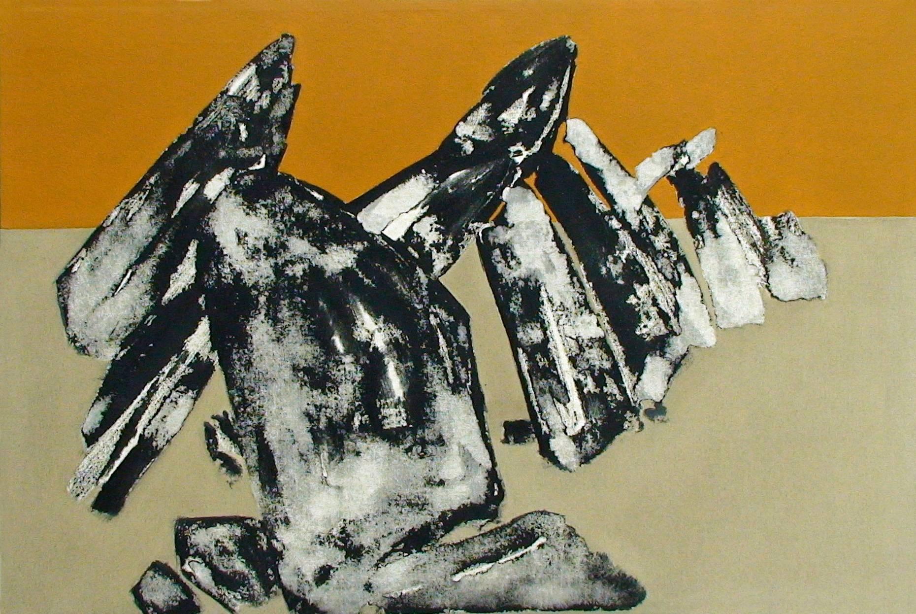 Gefüge I 2000 Acrylfarbe a/Nessel 60 x 90 cm