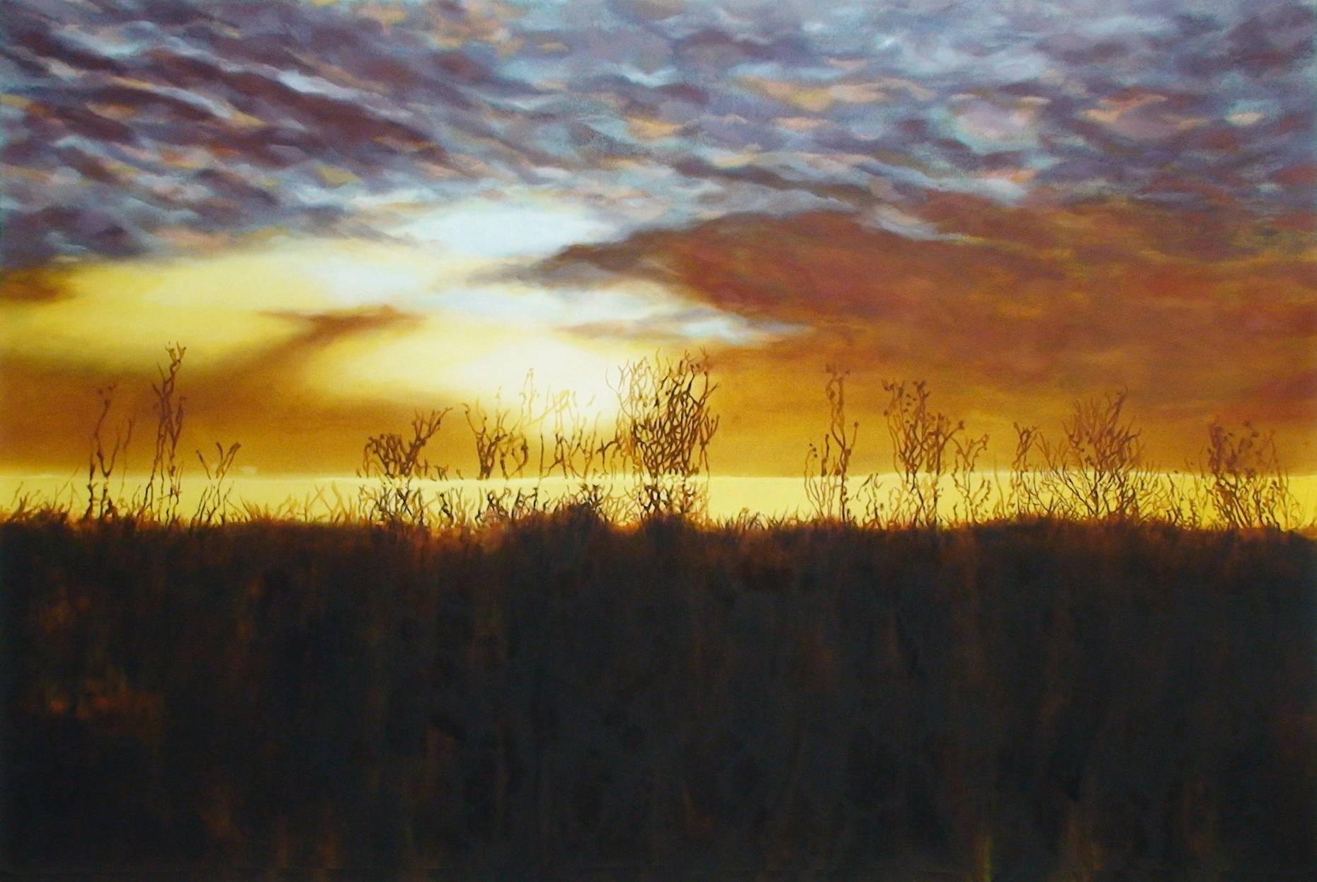 Gegenlicht 2003 Acrylfarbe a/Nessel 160 x 240 cm