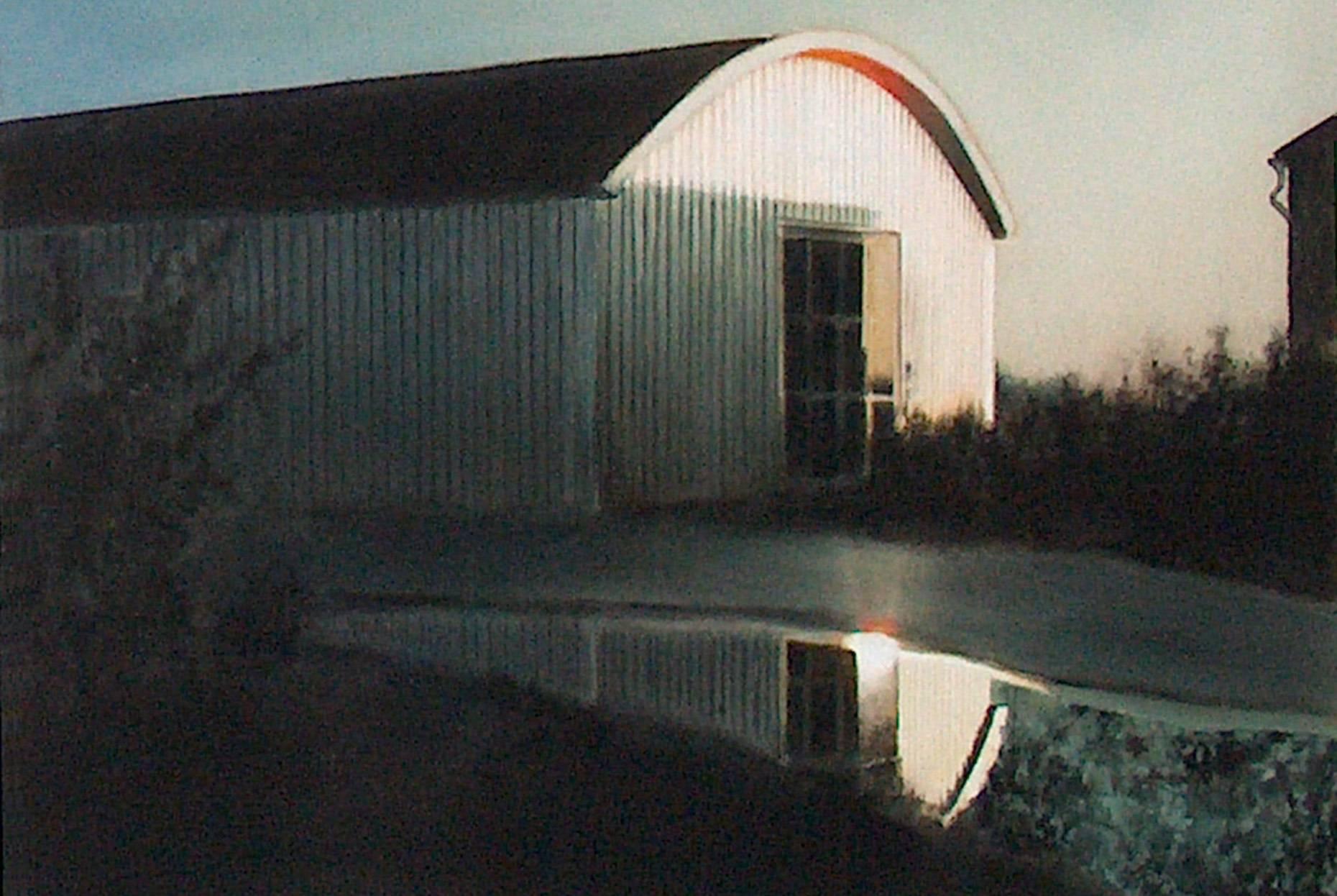 Raketenstation Hombroich 19 1998. Aquarell- u. Acrylfarbe a/Nessel 60 x 90 cm
