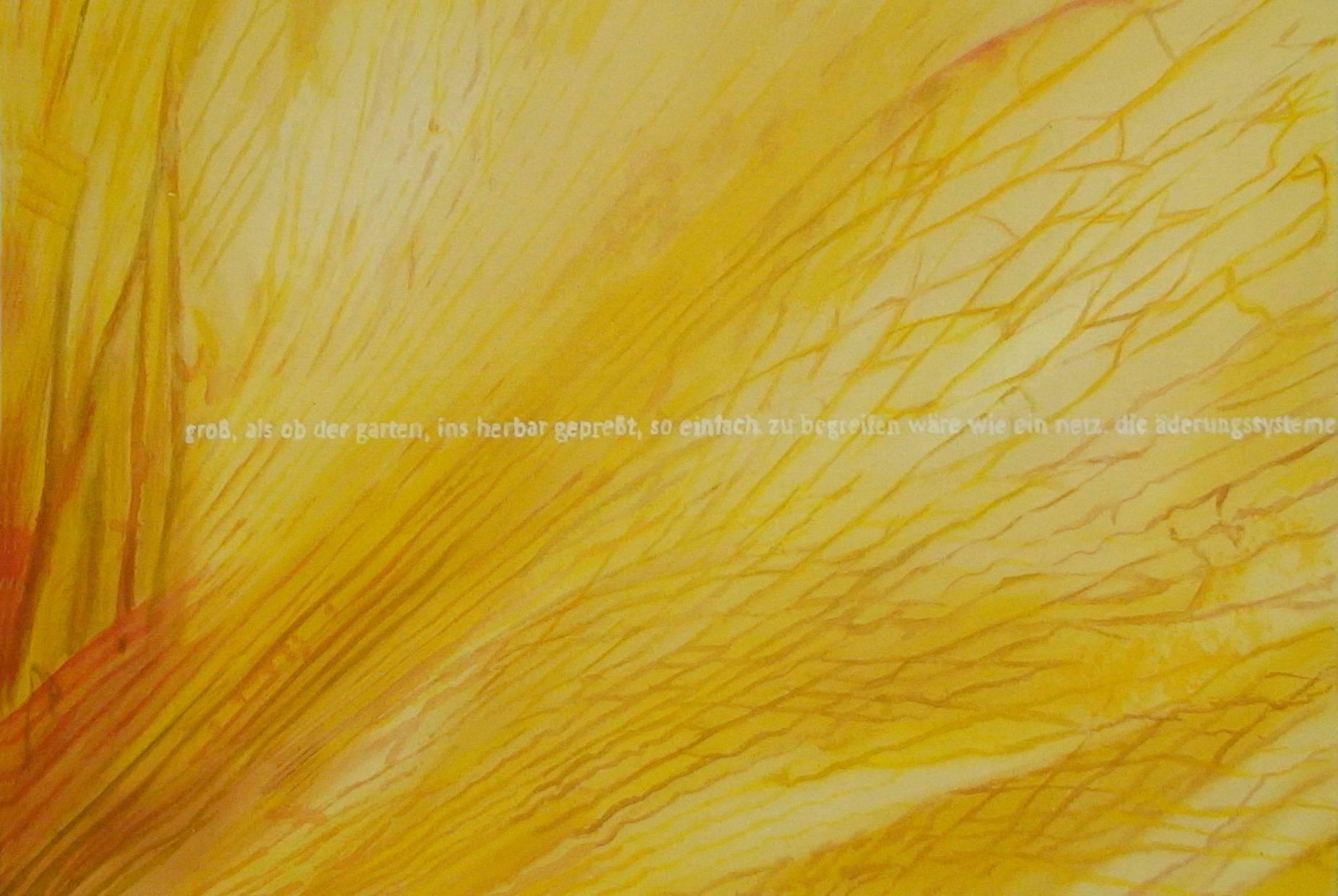 wie ein netz die äderungssysteme 2006 Aquarell-und Acrylfarbe a/Nessel 60 x 90 cm