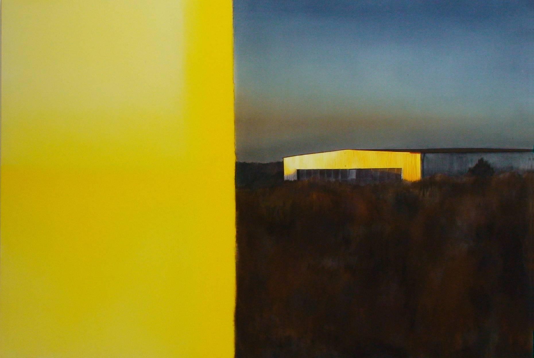 Filmanfang 1998 Aquarell- u. Acrylfarbe a/Nessel 140 x 210 cm