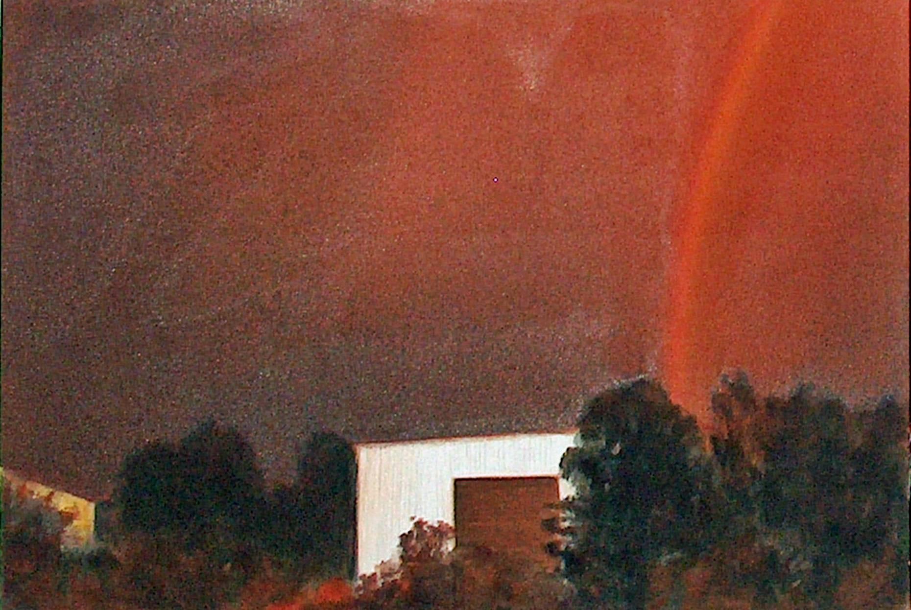 Raketenstation Hombroich 17 1998 Aquarell- u. Acrylfarbe a/Nessel 60 x 90 cm