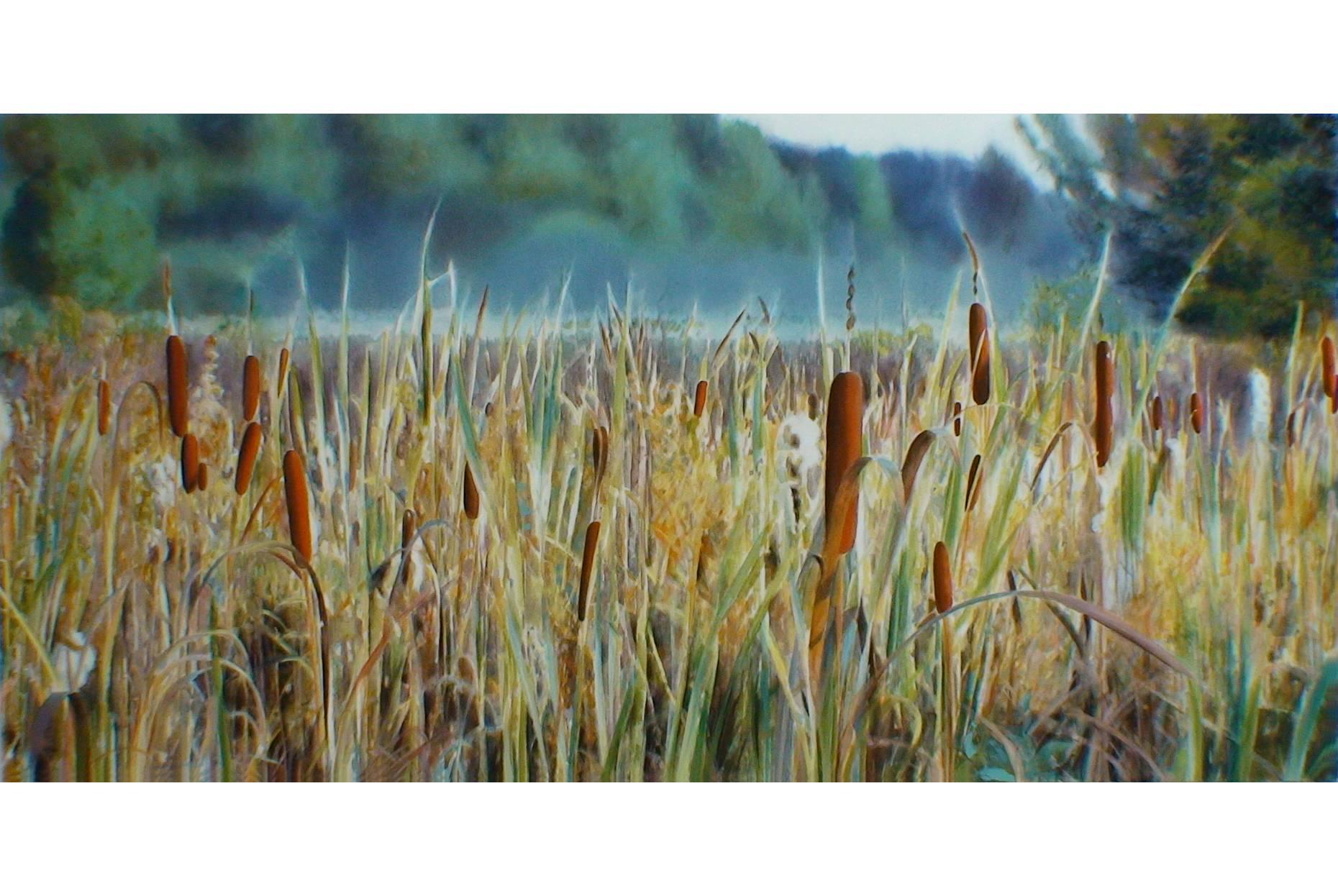 Schilfwiese 2009 Acrylfarbe a/Nessel 160 x 240 cm