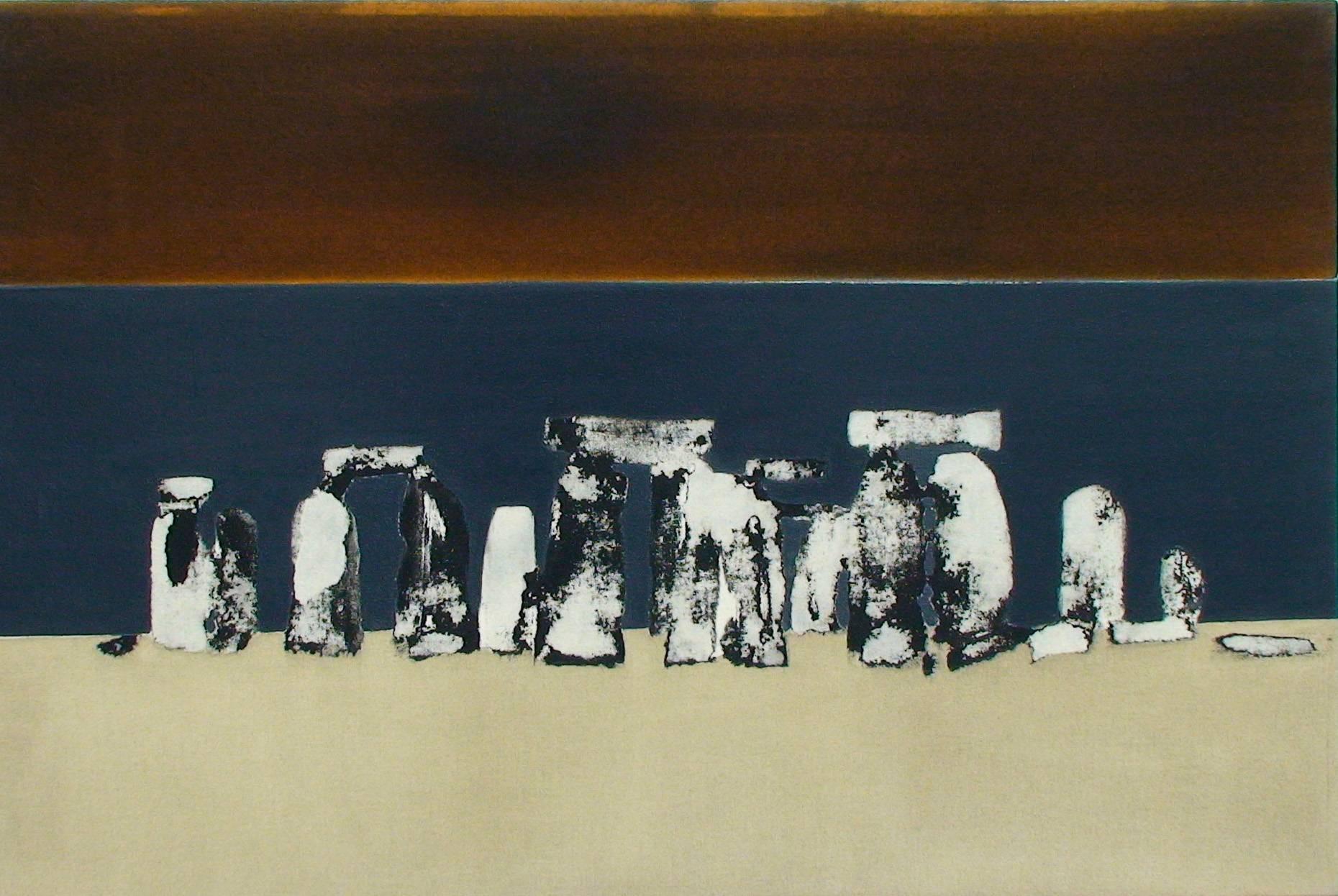 Gefüge III 2000 Acrylfarbe a/Nessel 60 x 90 cm