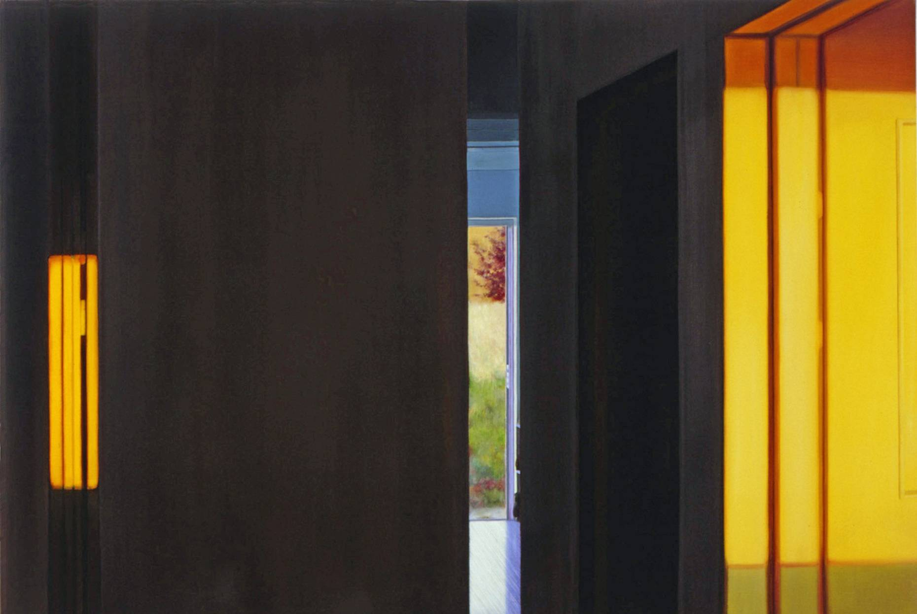 Interieur 1999 Acrylfarbe a/Nessel 140 x 210 cm