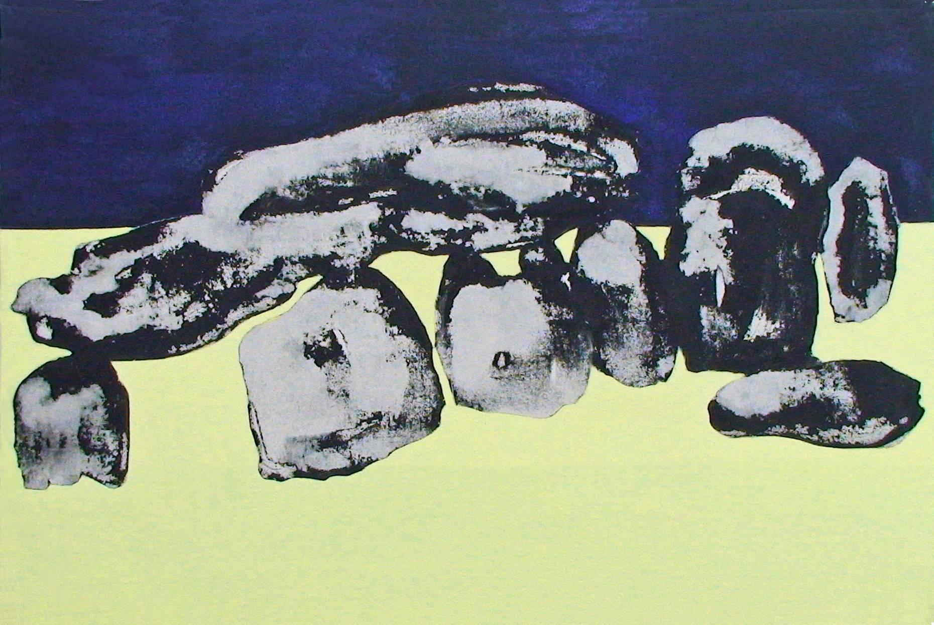 Gefüge II 2000 Acrylfarbe a/Nessel 60 x 90 cm