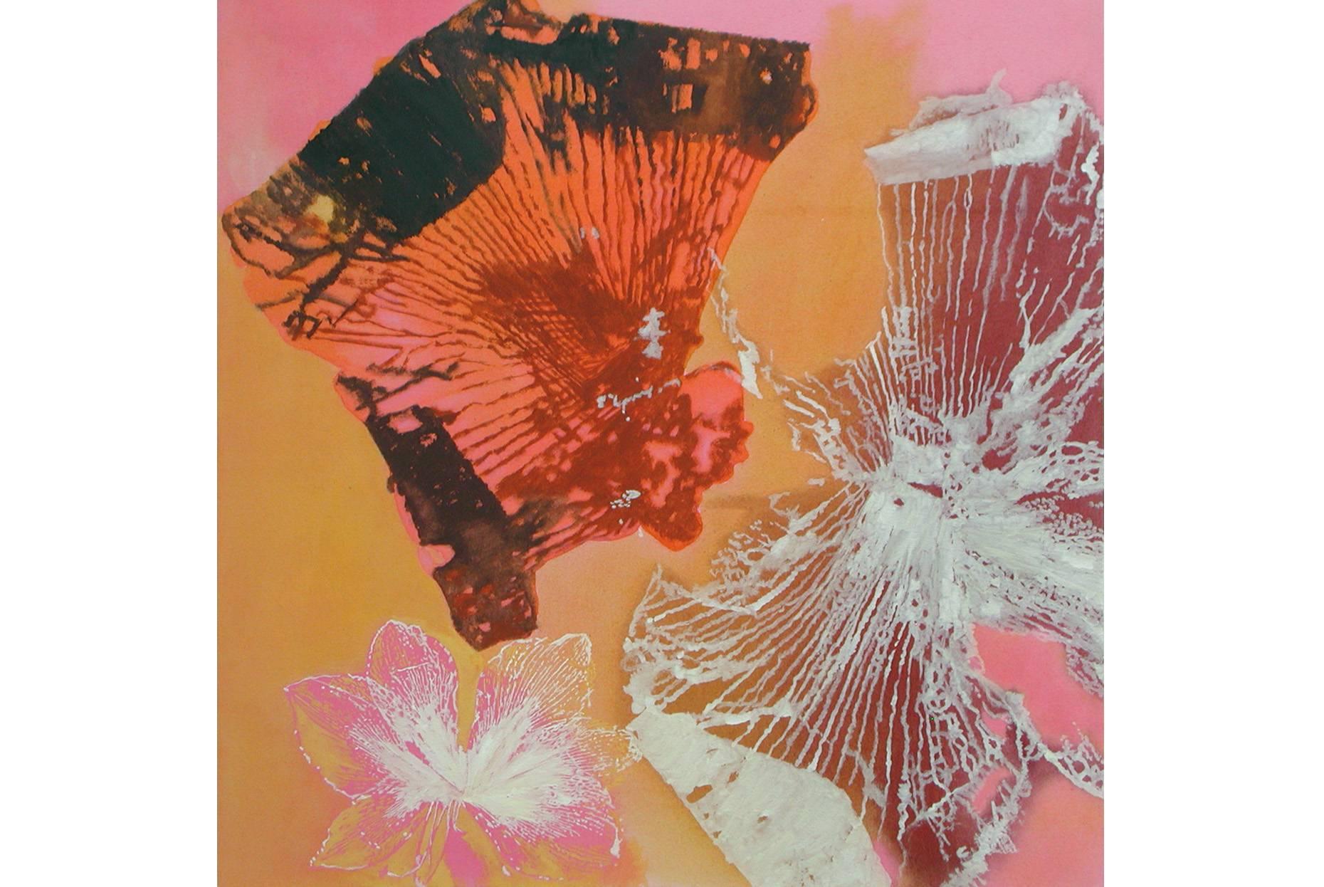 Amaryllis Galaxie III 2003 Aquarell- und Acrylfarbe a/Nessel 90 x 90 cm