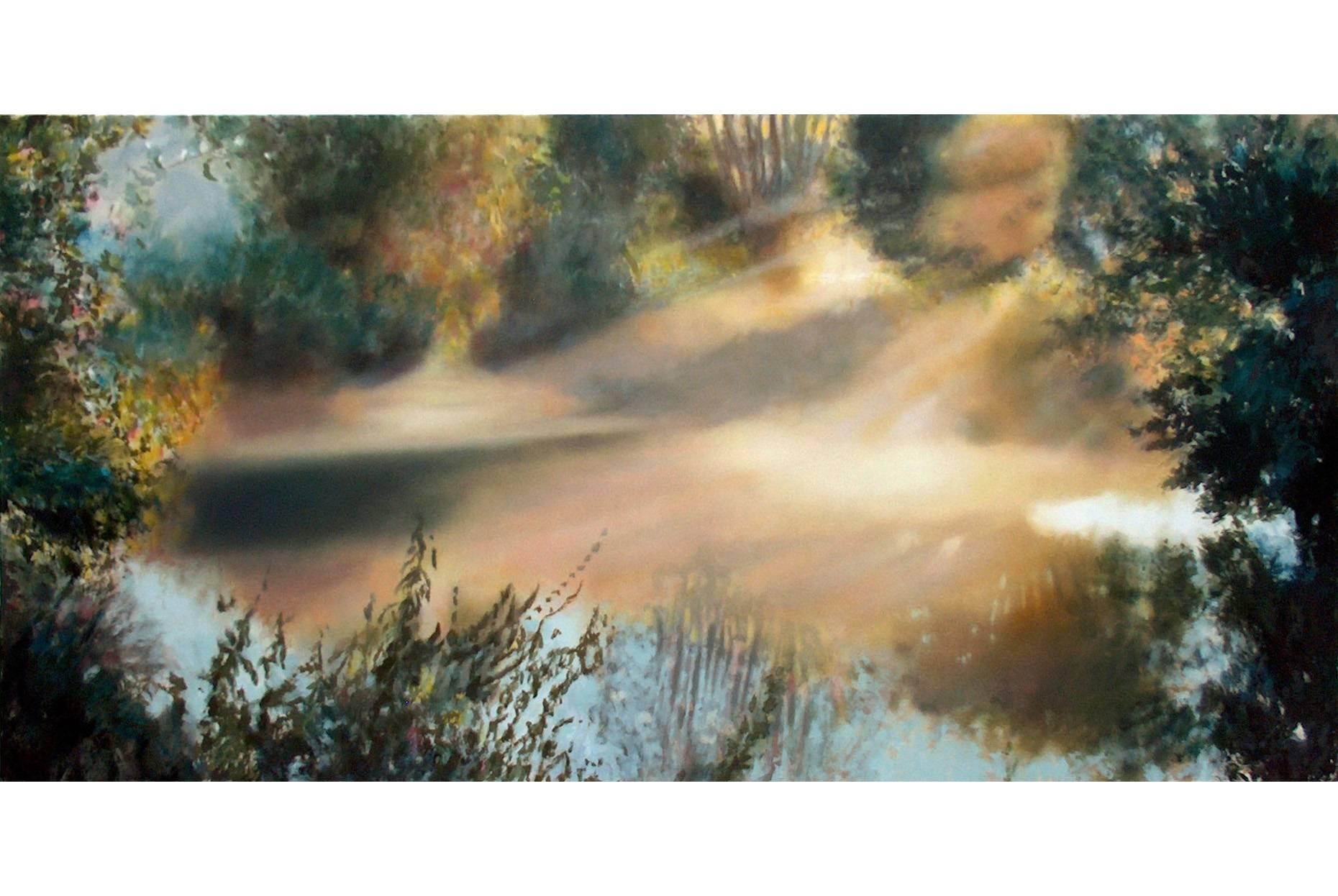 Erftnebel 2007 Öl- und Acrylfarbe a/Nessel 120 x 240 cm