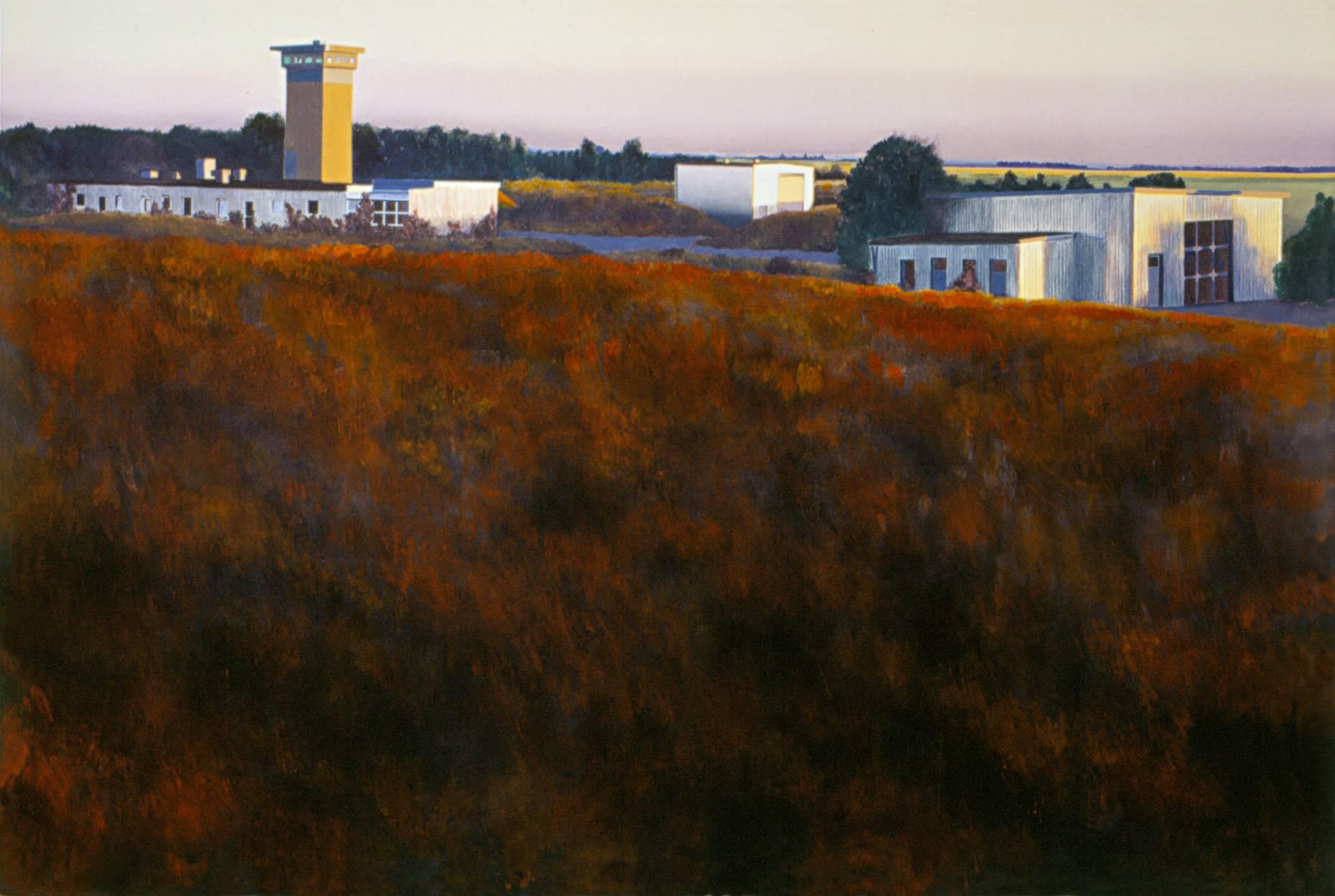 Horizont Hombroich 2002 Acrylfarbe a/Nessel 140 x 210 cm