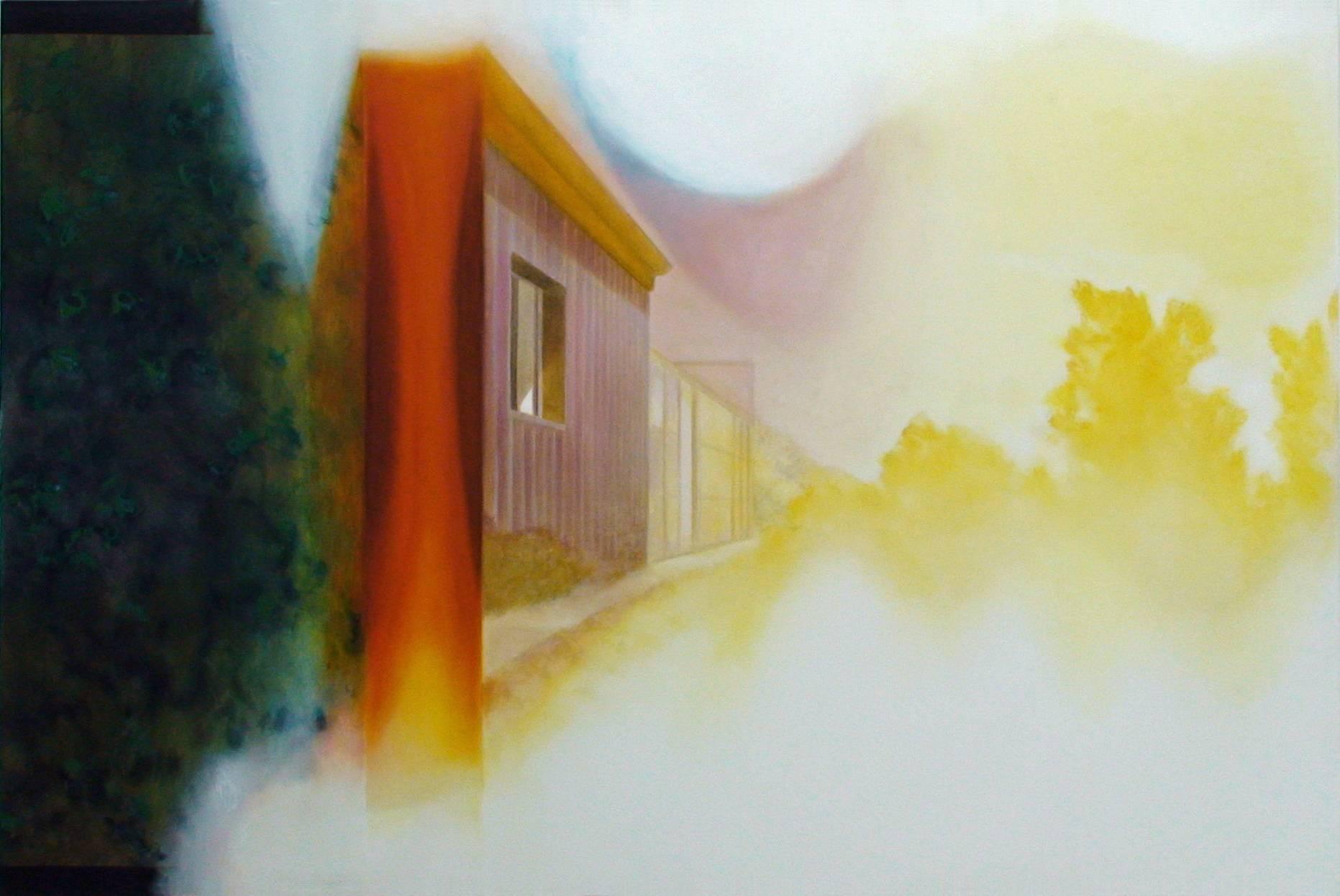 Filmende 2003 Acrylfarbe a/Nessel 40 x 210 cm