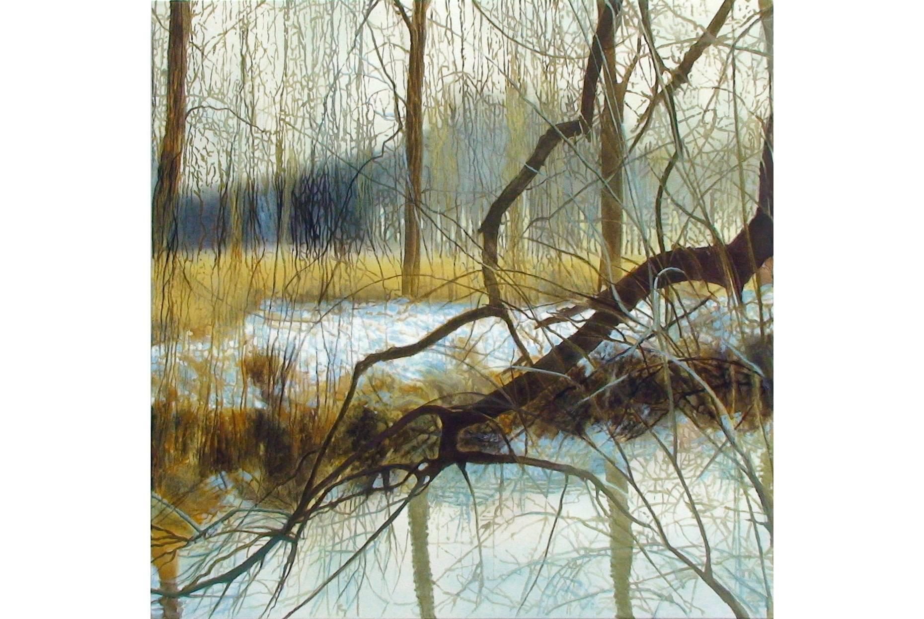 Geäst 2008 Acrylfarbe a/Nessel 90 x 90 cm