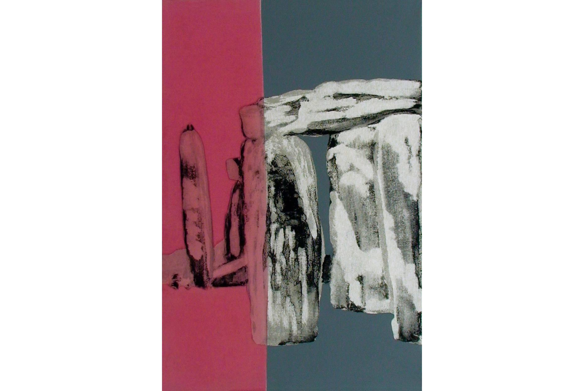 Gefüge XII 2000 Acrylfarbe a/Nessel 90 x 60 cm