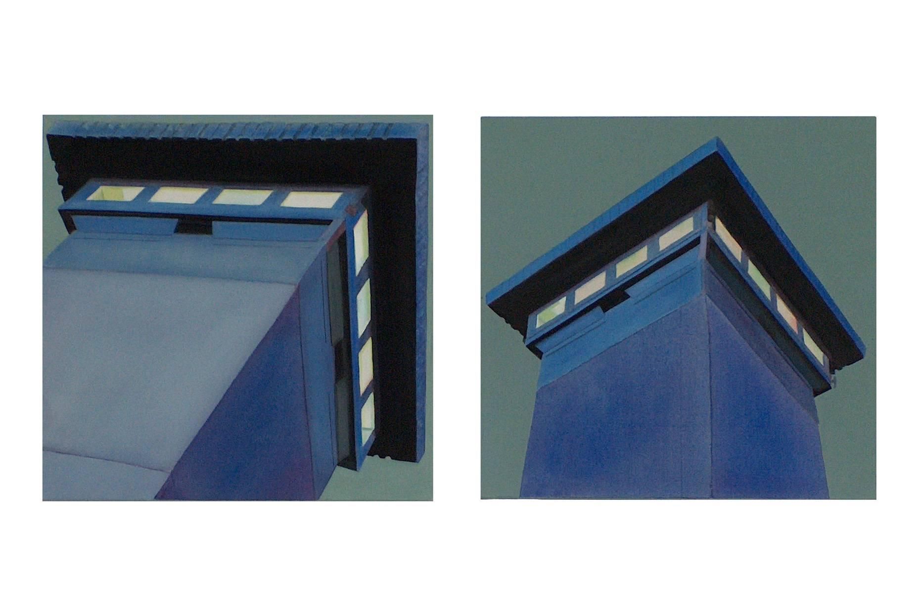 Turm 1+2 2002 Acrylfarbe a/Nessel je 60 x 60 cm