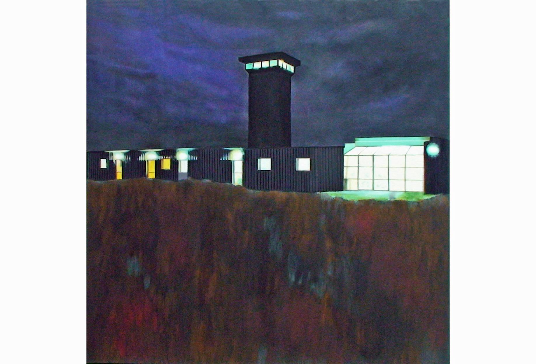 Nachtwache 2002 Acrylfarbe a/Nessel 140 x 140 cm