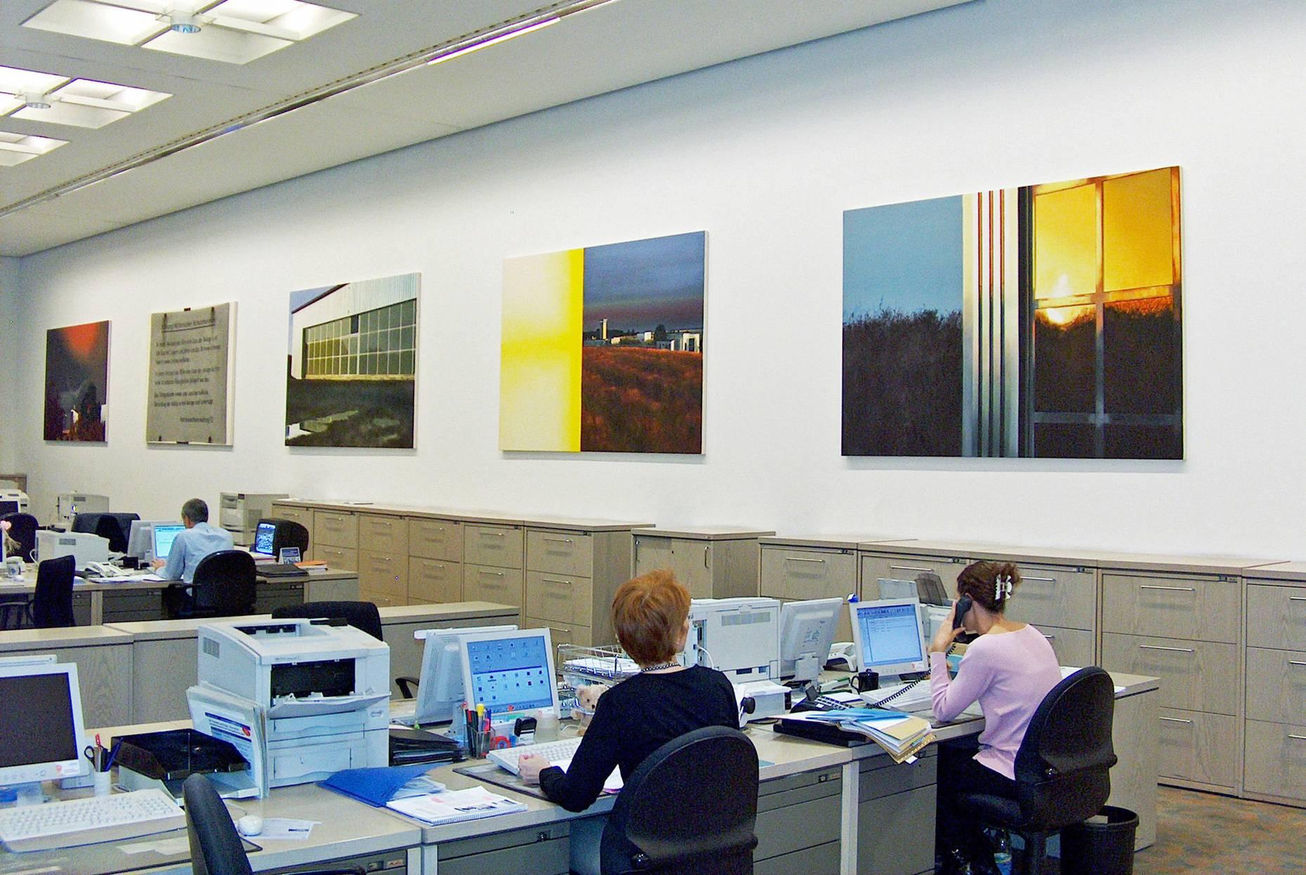 Untergang der romantischen Sonne. Schilderij 2004 Deutsche Bank An den Dominikanern Köln
