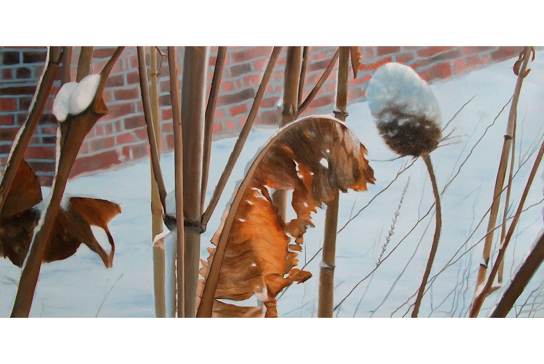 Wilde Karde 2005 Acrylfarbe a/Nessel 120 x 240 cm