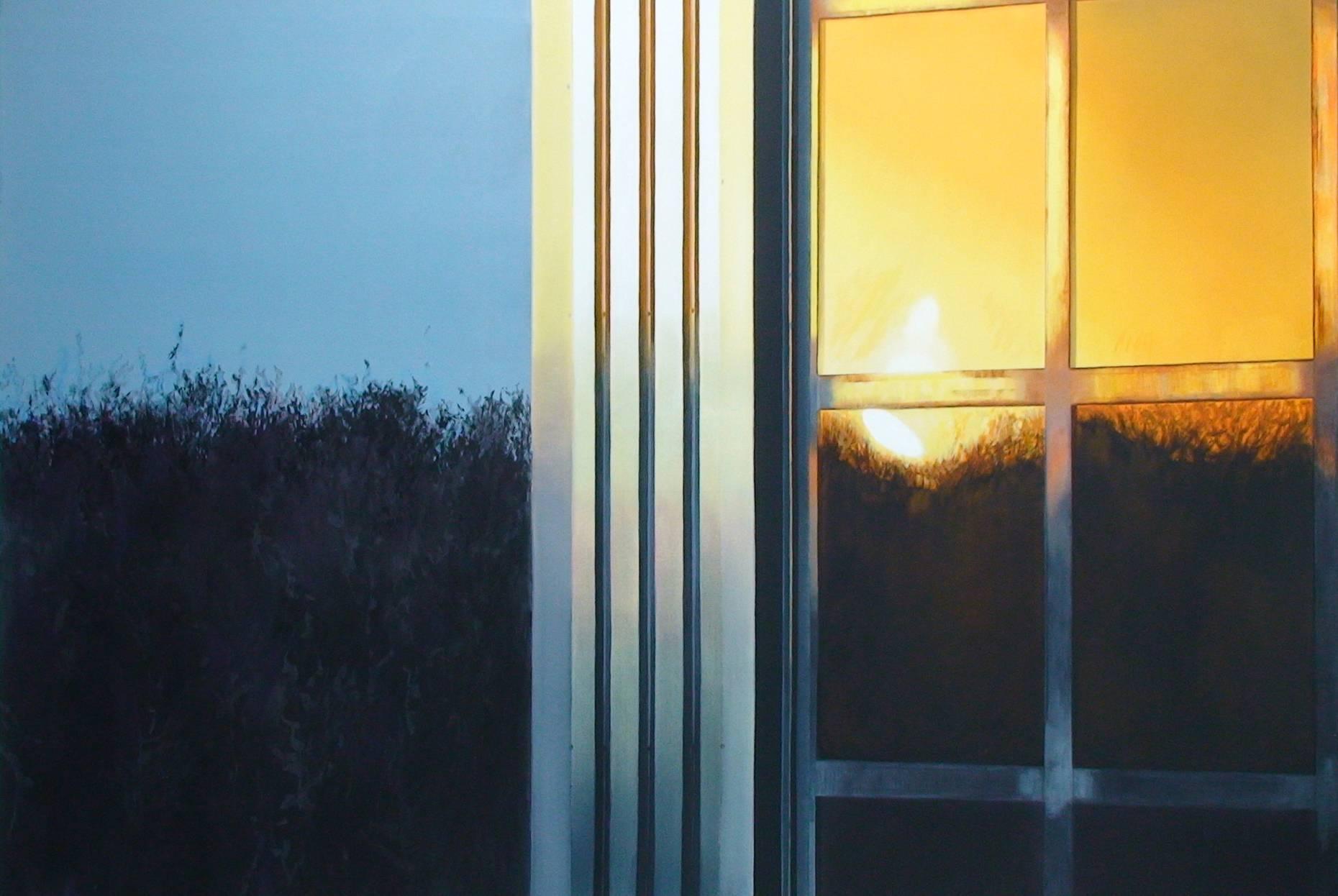 Fensterbild 2003 Acrylfarbe a/Nessel 160 x 240 cm