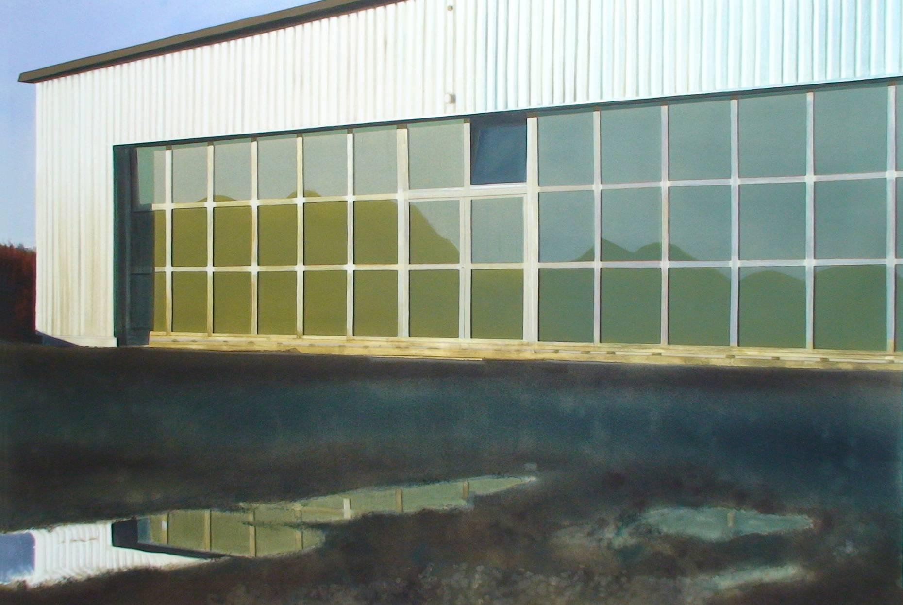 Hangar 2003 Acrylfarbe a/Nessel 160 x 240 cm