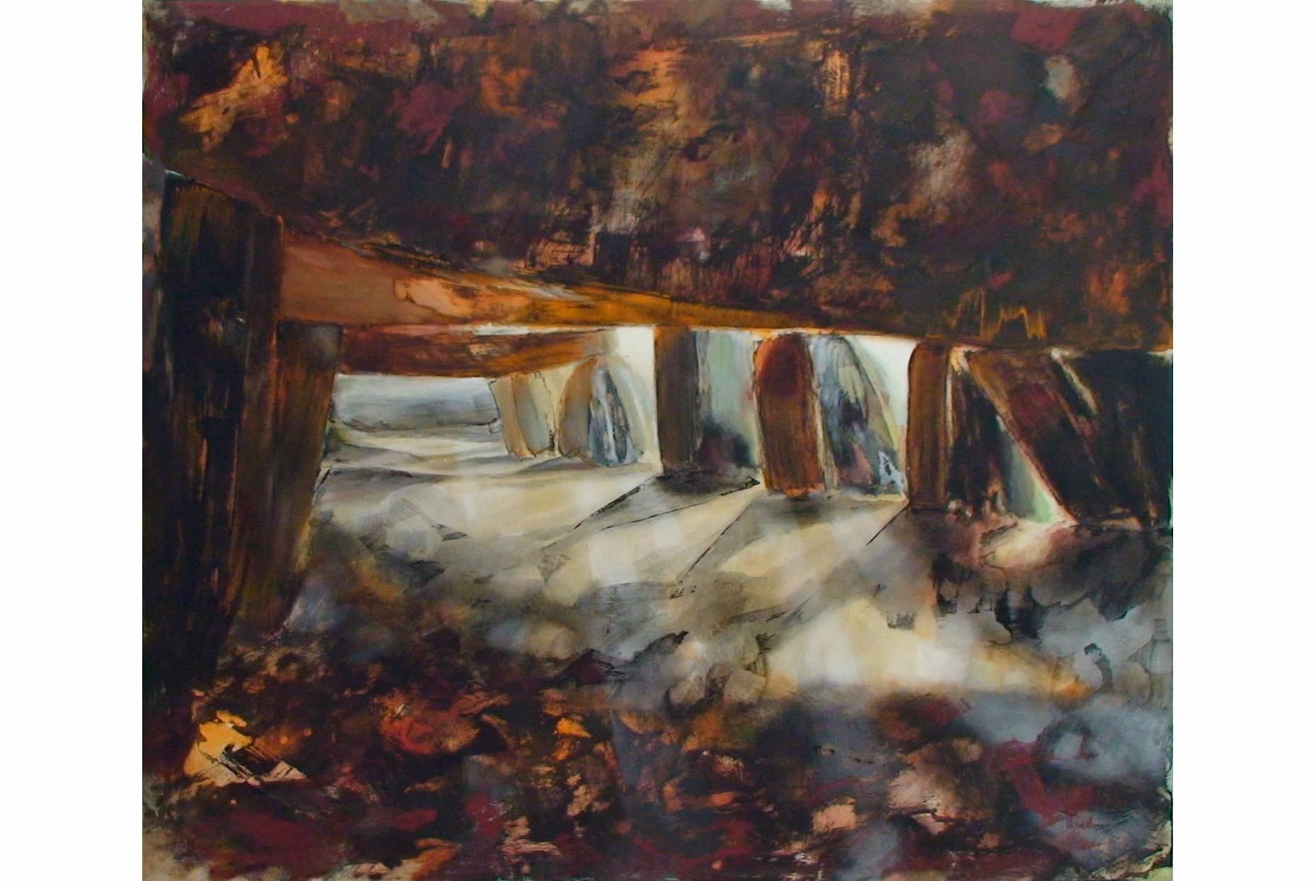 Fundus/Unterbau III 1997 Acryl- und Oelfarbe a/Nessel 170 x 200 cm