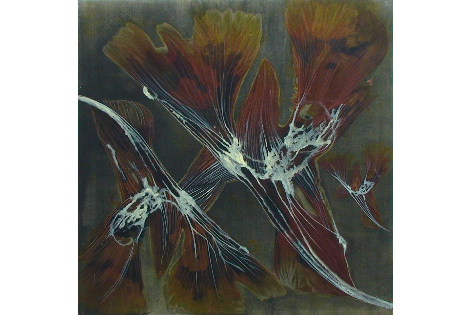Wicke V 2002 Aquarell- u.Acrylfarbe a/Nessel 90 x 90 cm