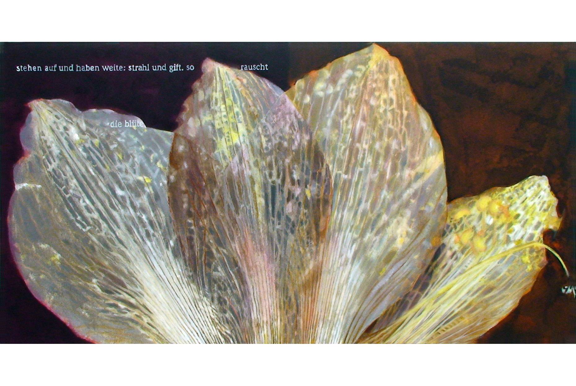 stehen auf und haben weite 2006 Aquarell- und Acrylfarbe a/Nessel 90 x 170 cm