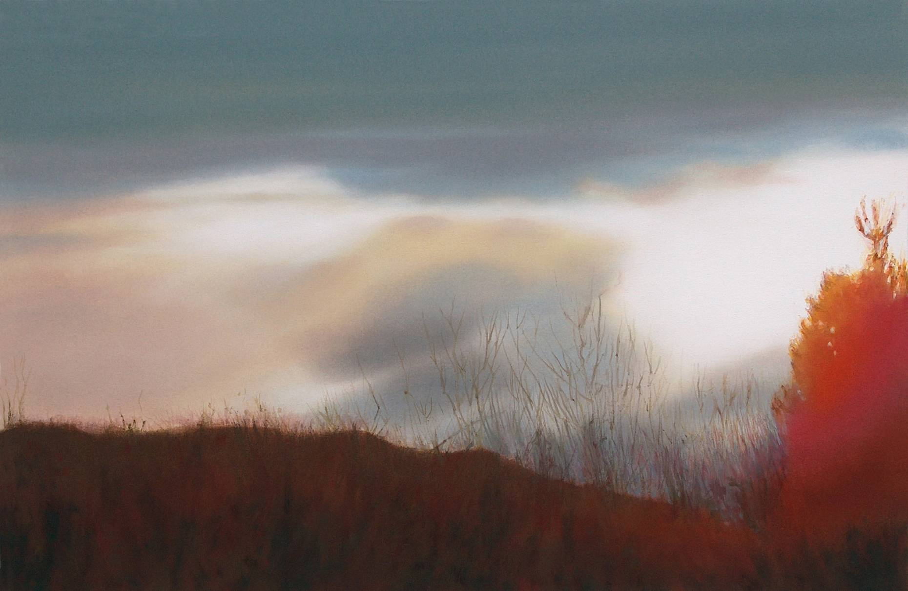 Im Sucher I 2004 Acrylfarbe a/Nessel 60 x 90 cm