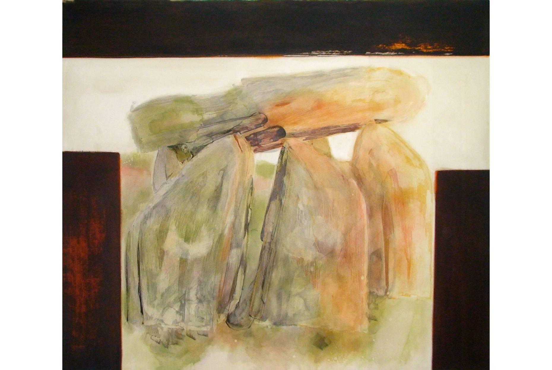 Fundus/Grundlage 1996 Acrylfarbe a/Nessel 190 x 220 cm