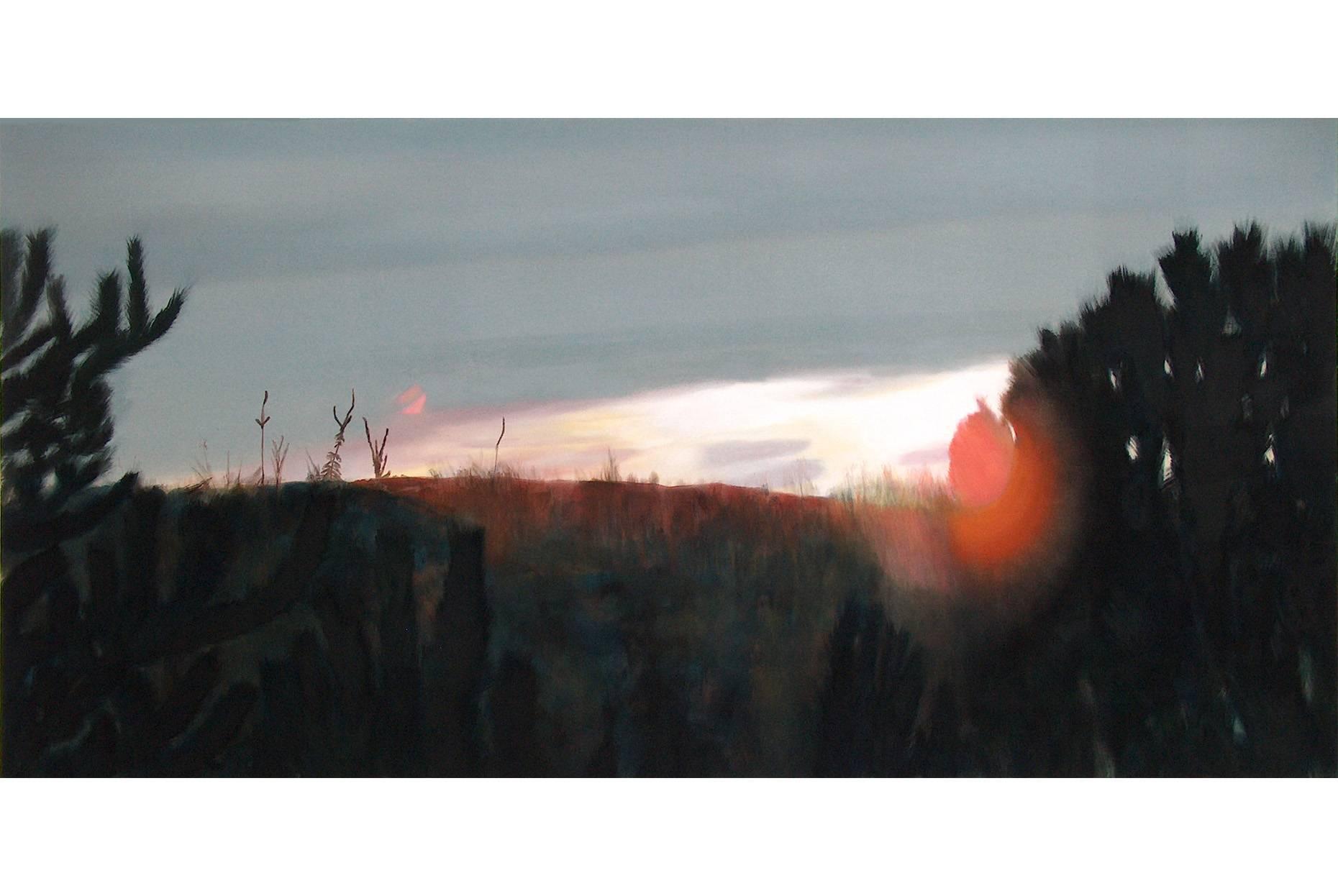Im Sucher II 2004 Acrylfarbe a/Nessel 160 x 240 cm