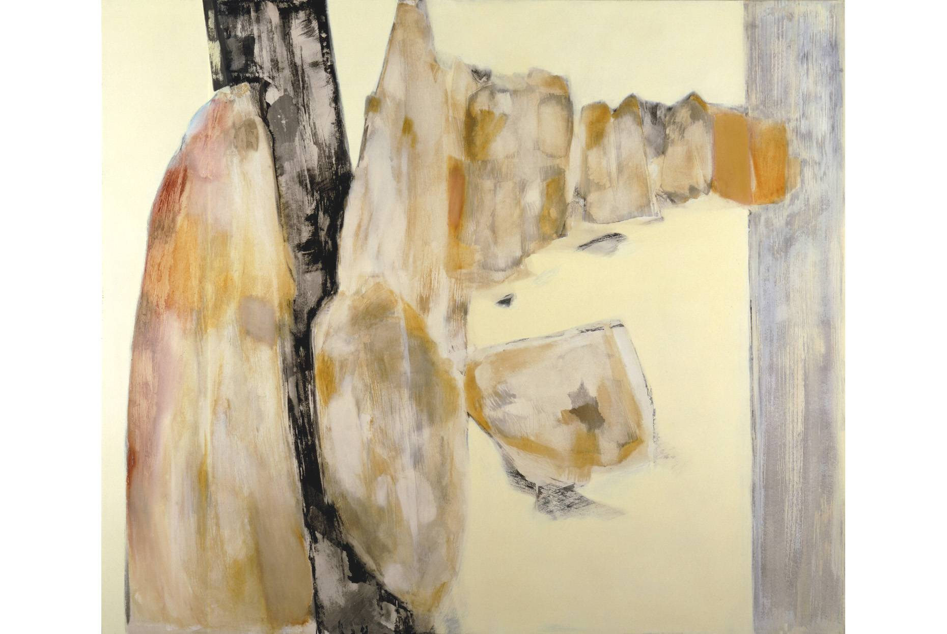 Fundus/Errichtet 1997 Acrylfarbe und Wachs a/Nessel 190 x 220 cm