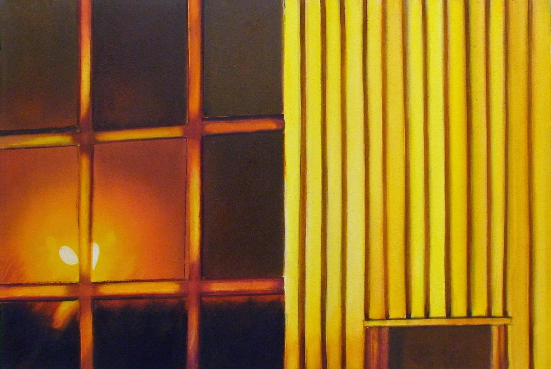 Raketenstation Hombroich 4 1997 Aquarell- u. Acrylfarbe a/Nessel 60 x 90 cm
