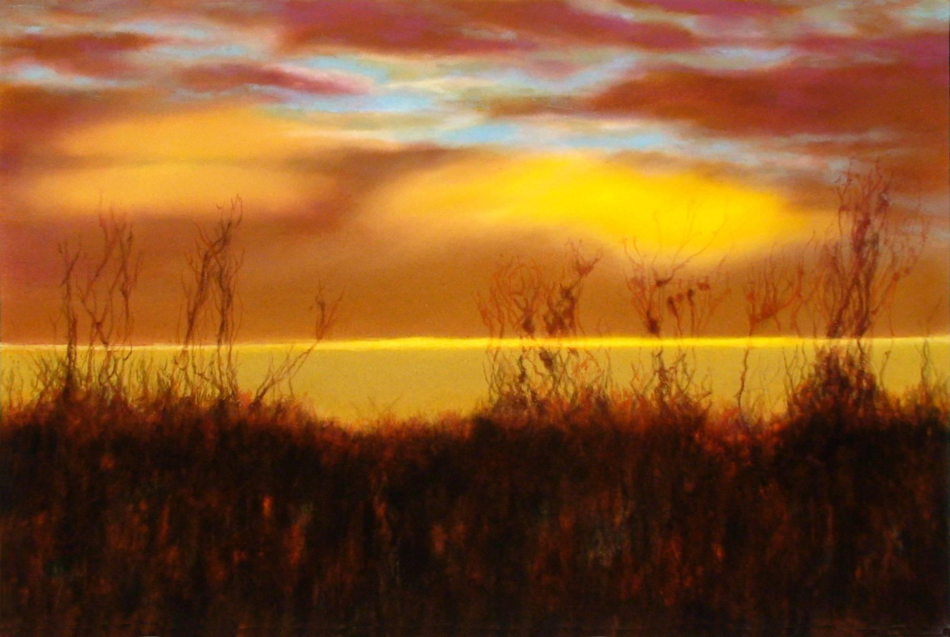 Landschaft I 2004 Acrylfarbe a/Nessel 60 x 90 cm