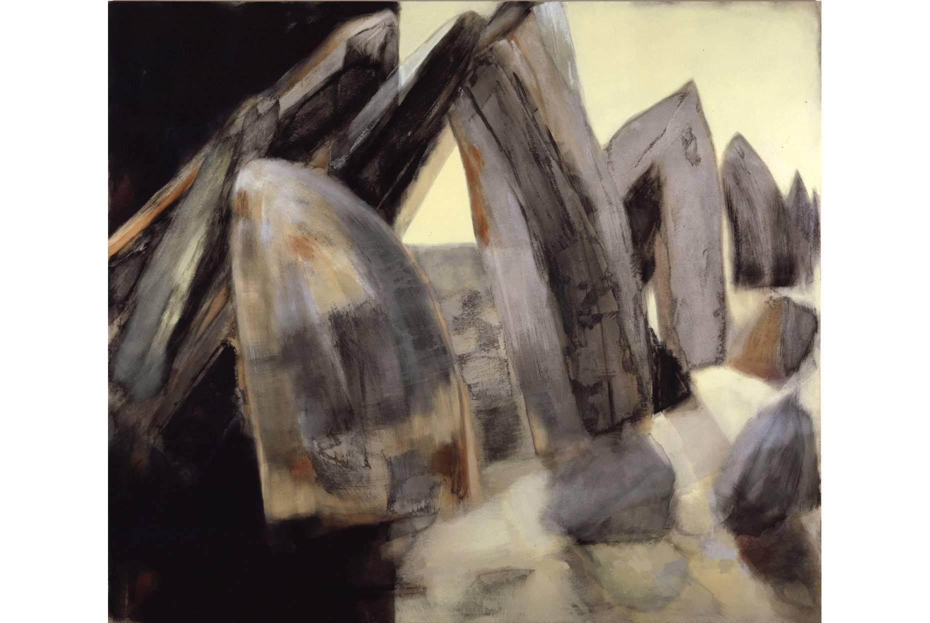 Fundus/Bestand 1997 Acrylfarbe a/Nessel 190 x 220 cm