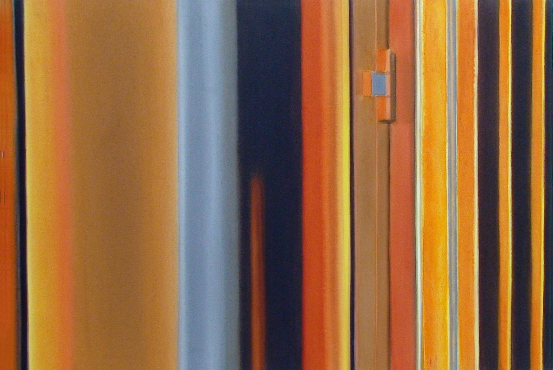 Raketenstation Hombroich 12 1997 Aquarell- u. Acrylfarbe a/Nessel 60 x 90 cm