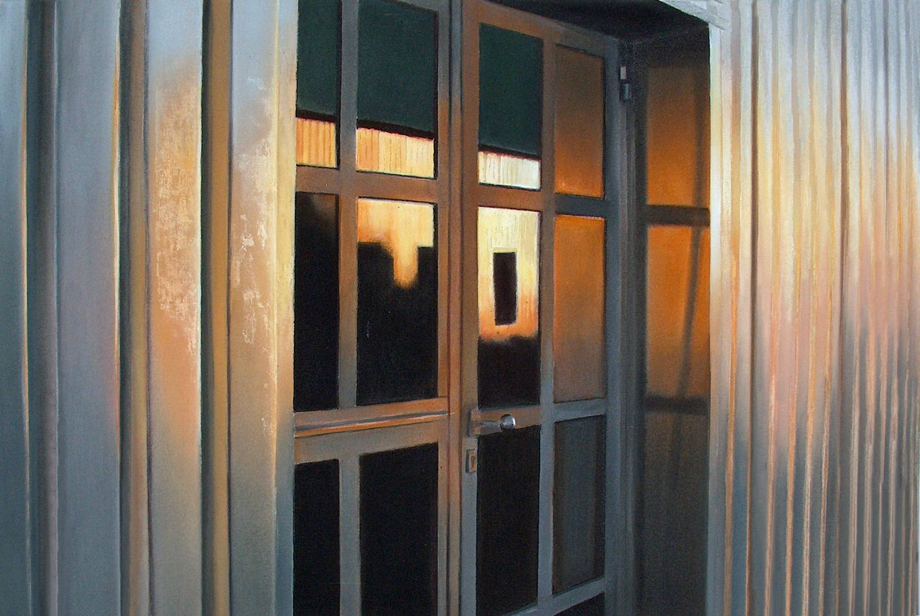Raketenstation Hombroich 13 1998 Aquarell- u. Acrylfarbe a/Nessel 60 x 90 cm