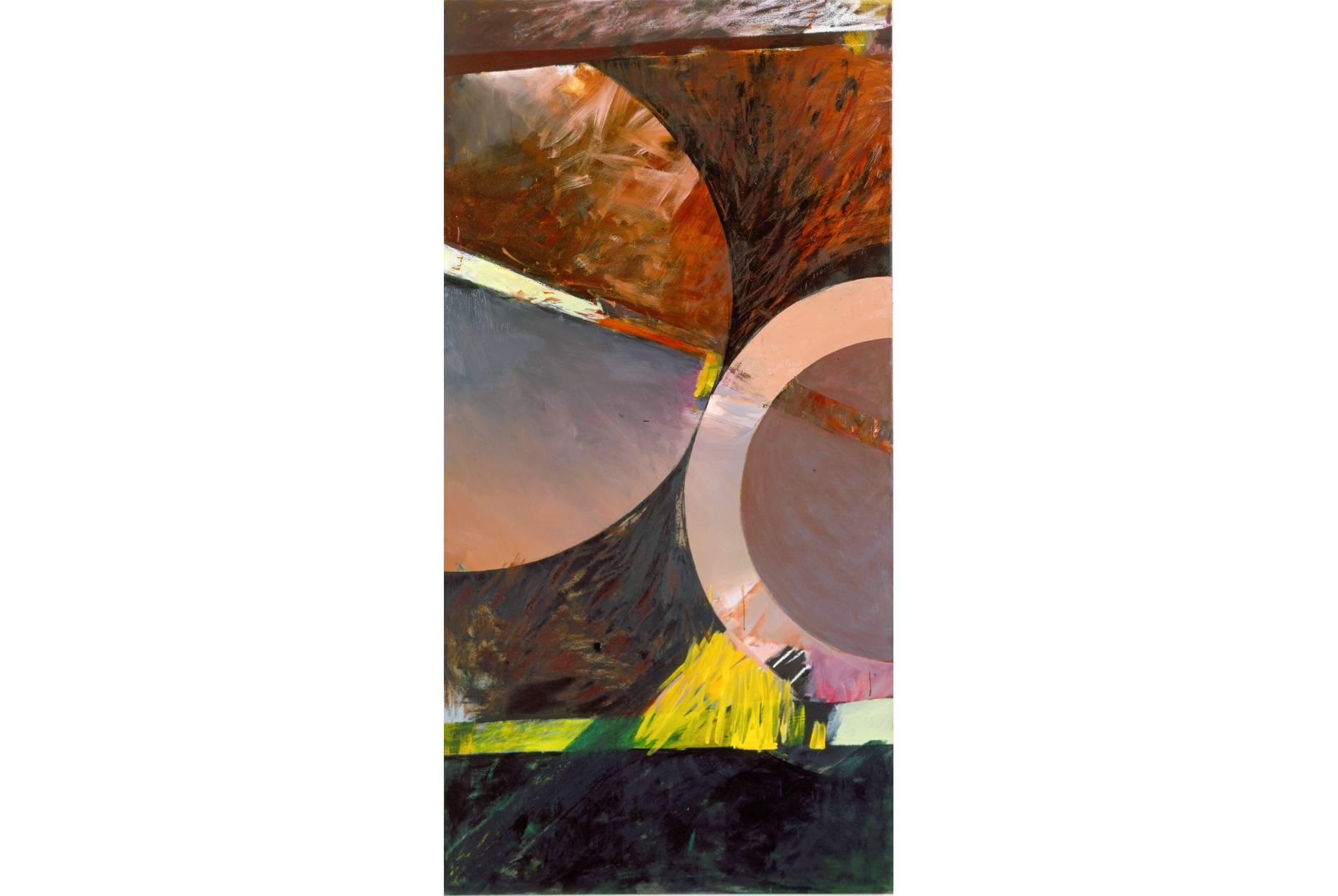 o.T. 1987 Ölfarbe a/Nessel 2 x 1 m