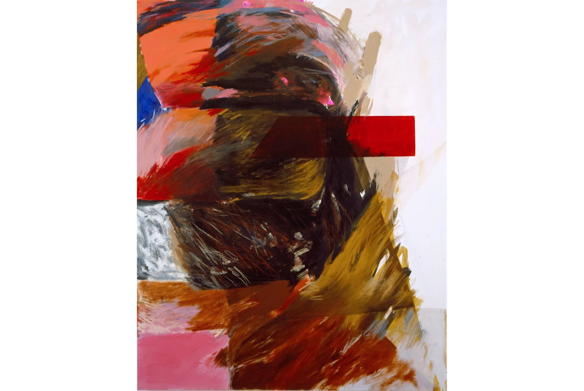 o.T. 1987 Pigment und Ölfarbe a/Nessel 200 x 160 cm