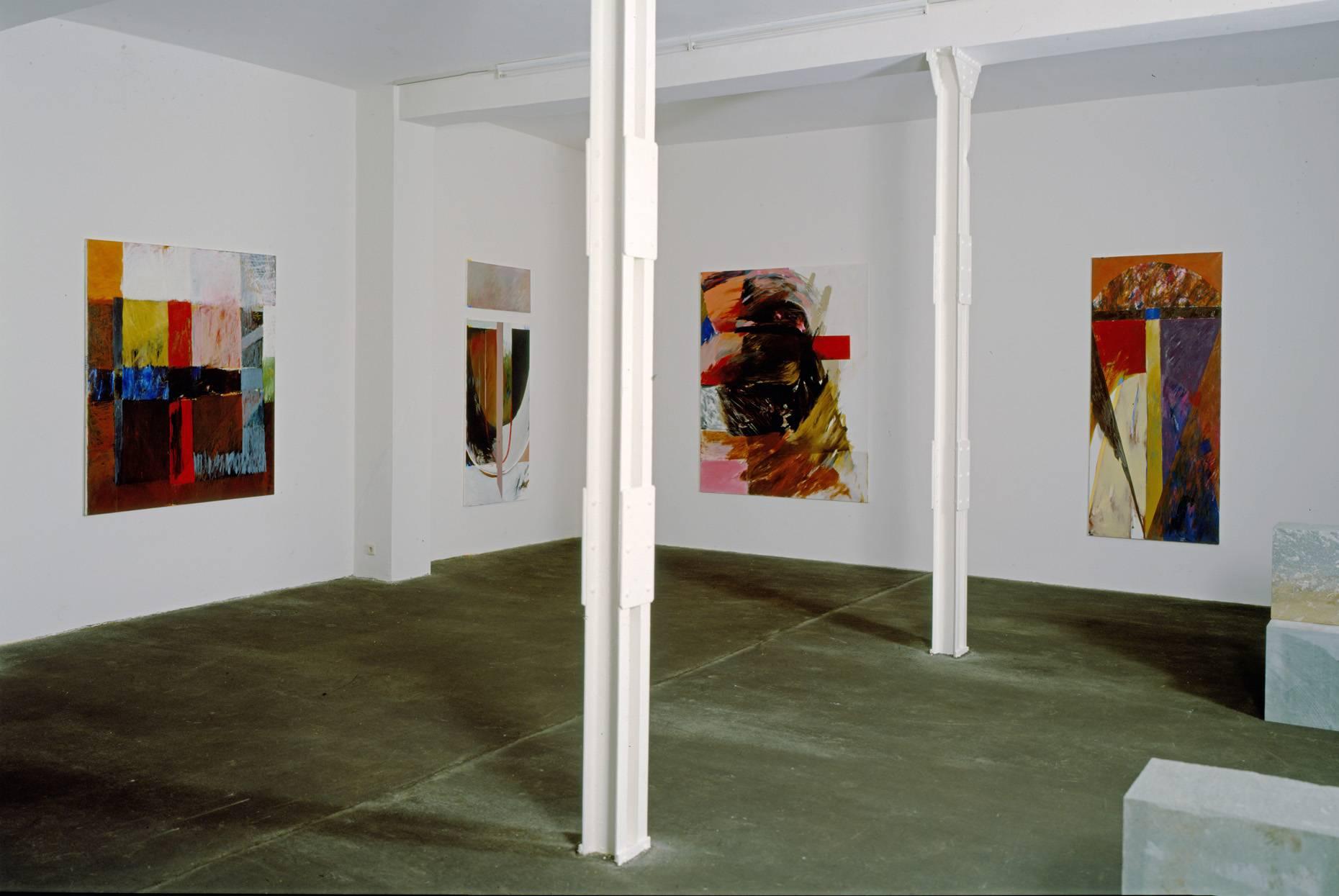 Berlin in Köln 1987 Teilansicht der Ausstellung Auf der Mauer Galerie Wilkens & Jacobs