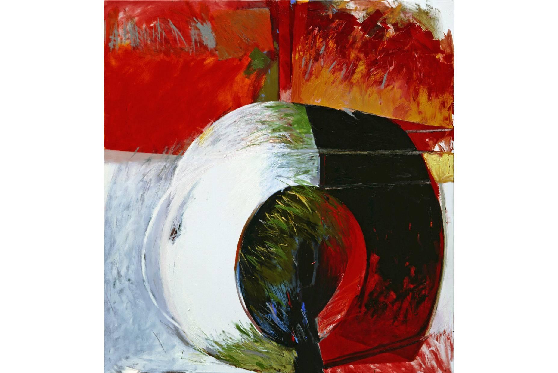 o.T. 1989 Pigment und Ölfarbe a/Nessel 160 x 150 cm