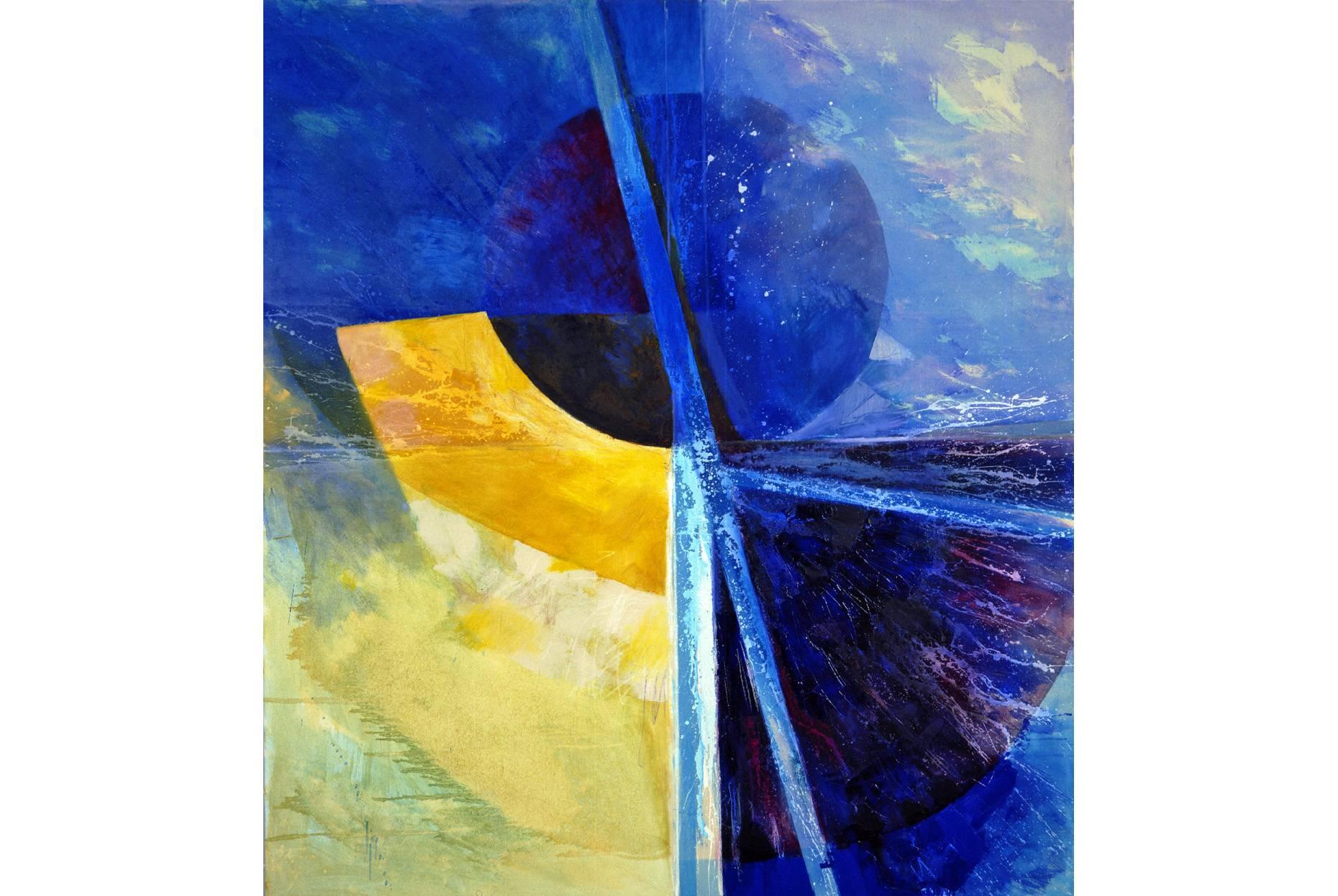o.T. 1990 Pigment Acrylspachtel und Ölfarbe a/Nessel 190 x 170 cm