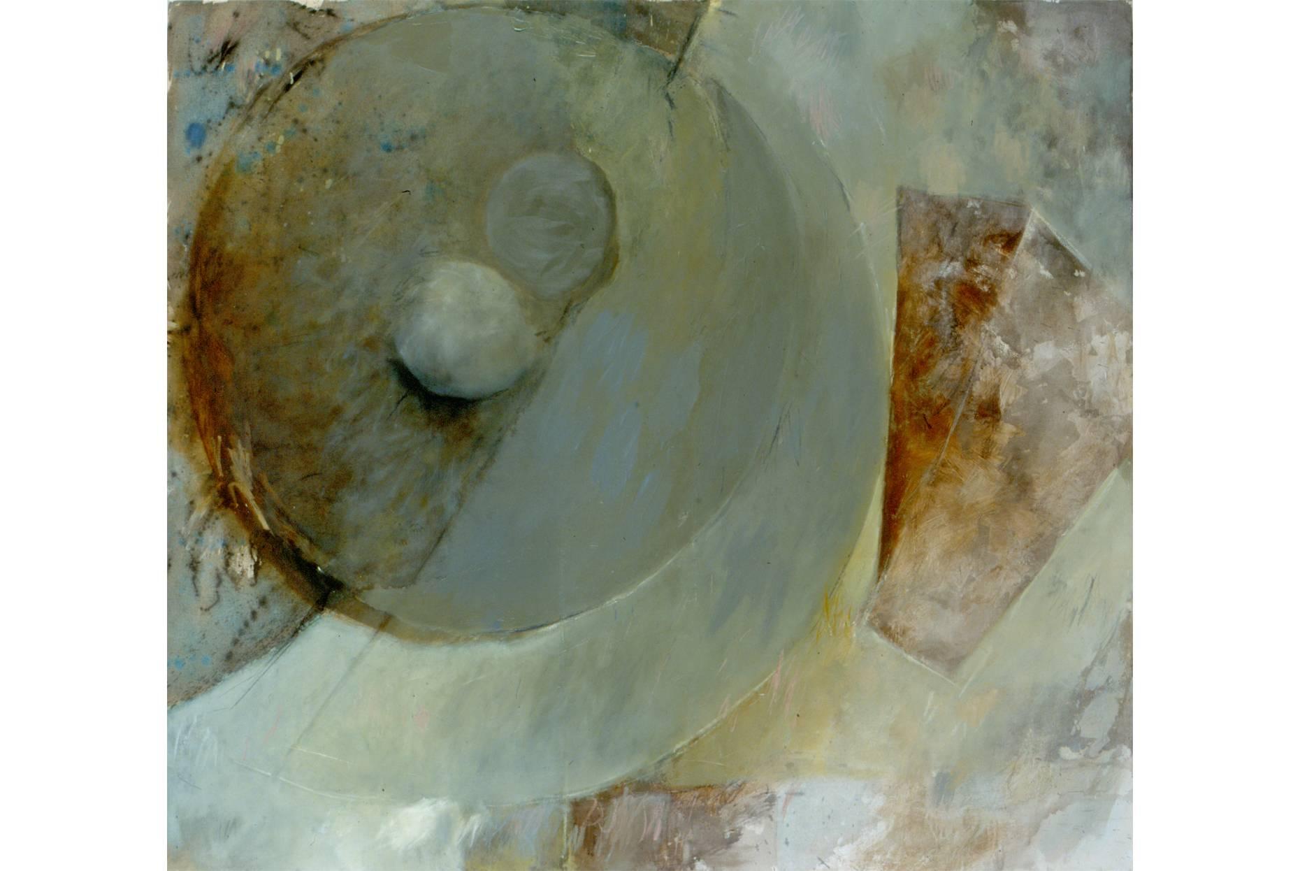 o.T. 1991 Pigment Acrylspachtel und Ölfarbe a/Nessel 170 x 190 cm