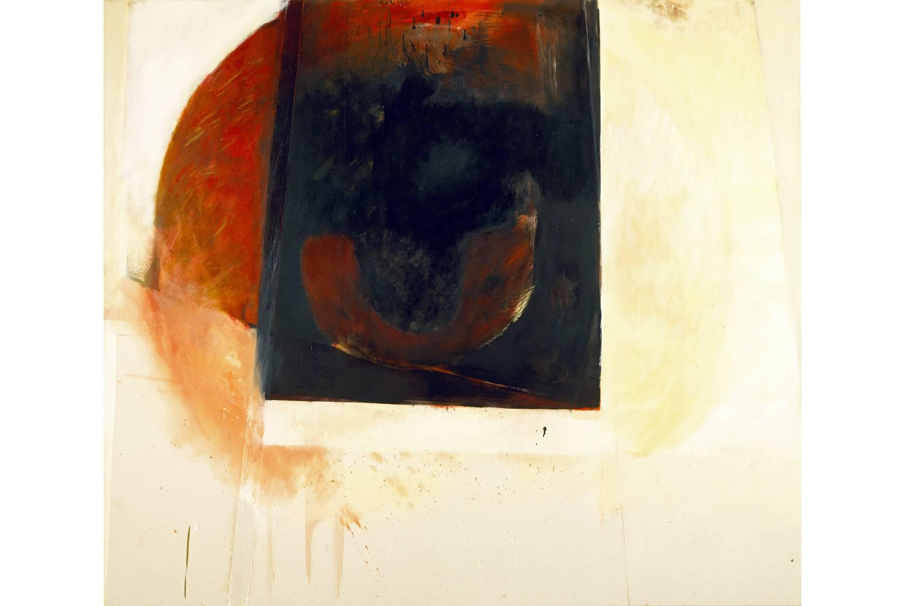 o.T. 1991 Pigment Dispersion und Ölfarbe a/Nessel 190 x 220 cm