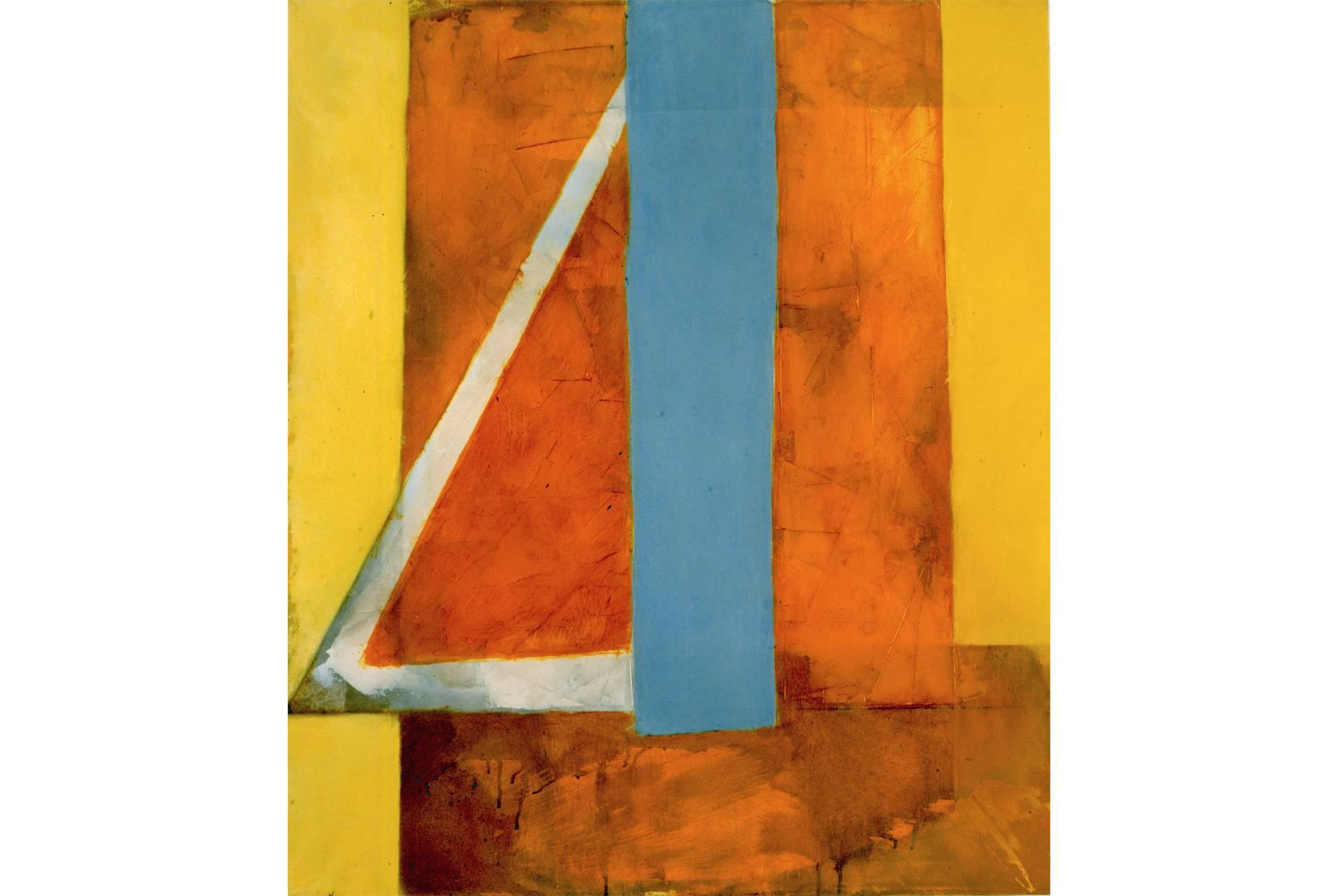 o.T. 1991 Pigment Acrylspachtel und Ölfarbe a/Nessel 105 x 90 cm