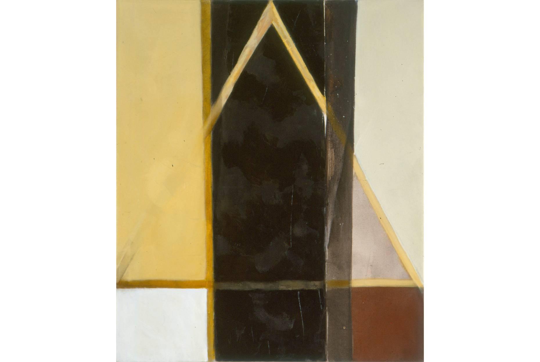 o.T. 1991 Pigment und Ölfarbe a/Nessel 105 x 90 cm