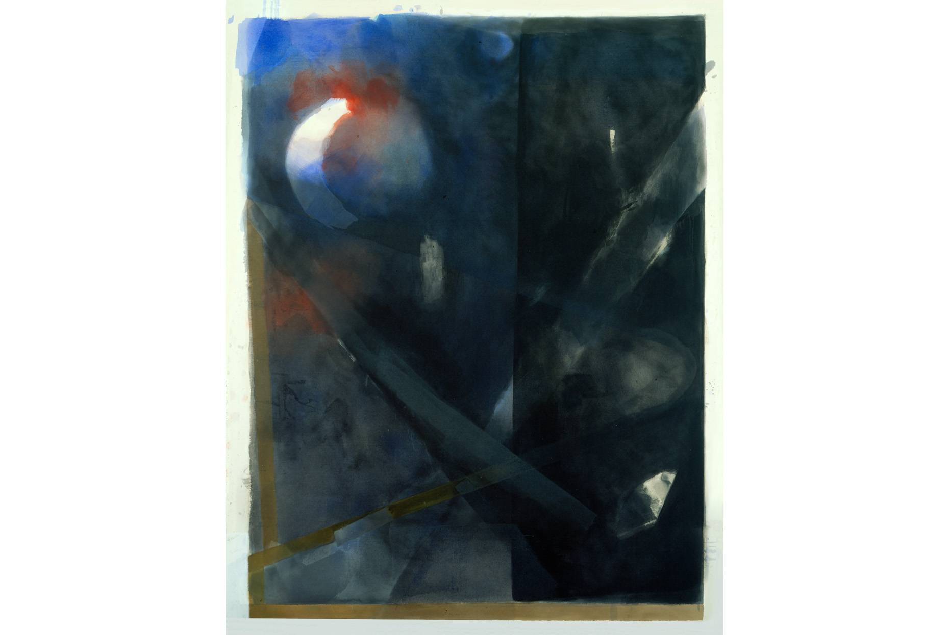 Geschränkt 1992 Pigment und Ölfarbe a/Nessel 220 x 190 cm