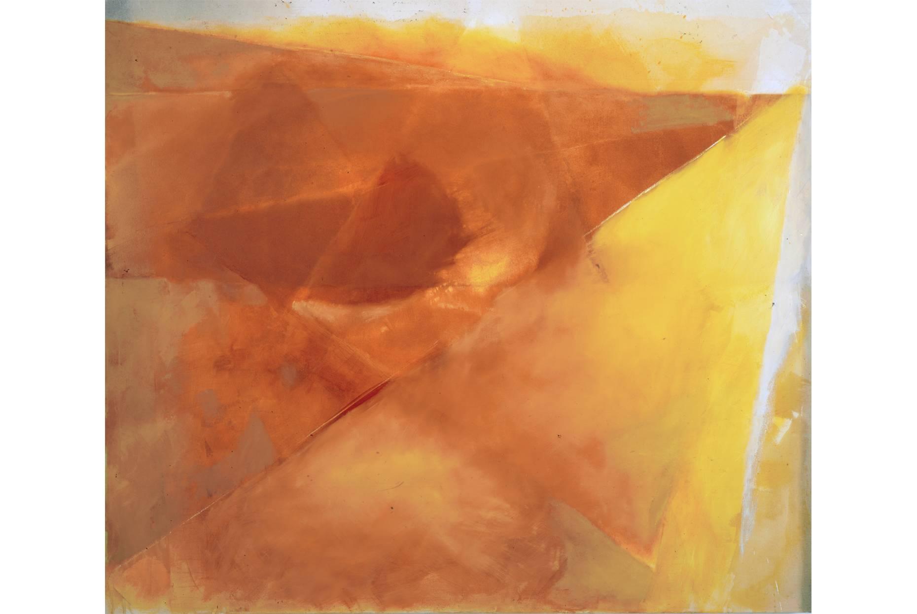 Orientierung 1992 Pigment Acrylspachtel und Ölfarbe a/Nessel 170 x 190 cm
