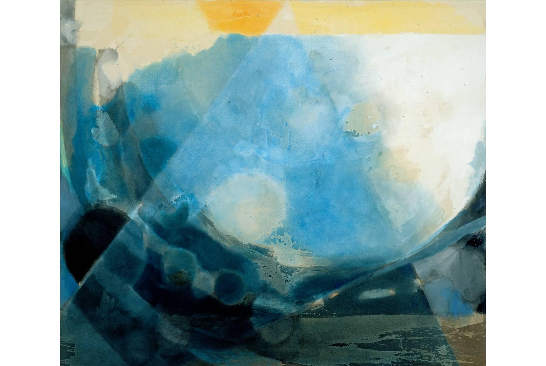 o.T. 1992 Pigment und Ölfarbe a/Nessel 170 x 190 cm