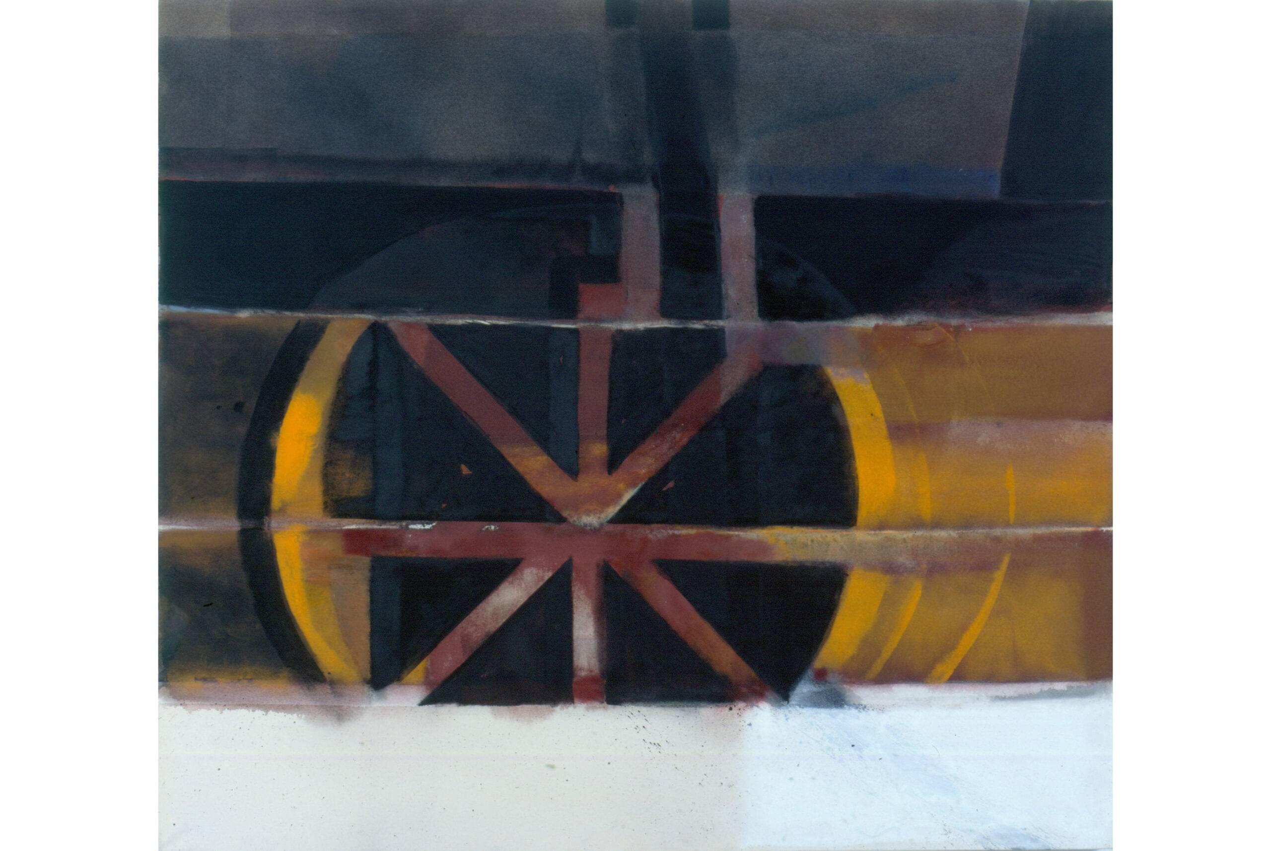 Immigration 1994 Dispersio und Ölfarbe a/ Nessel 170 x 190 cm