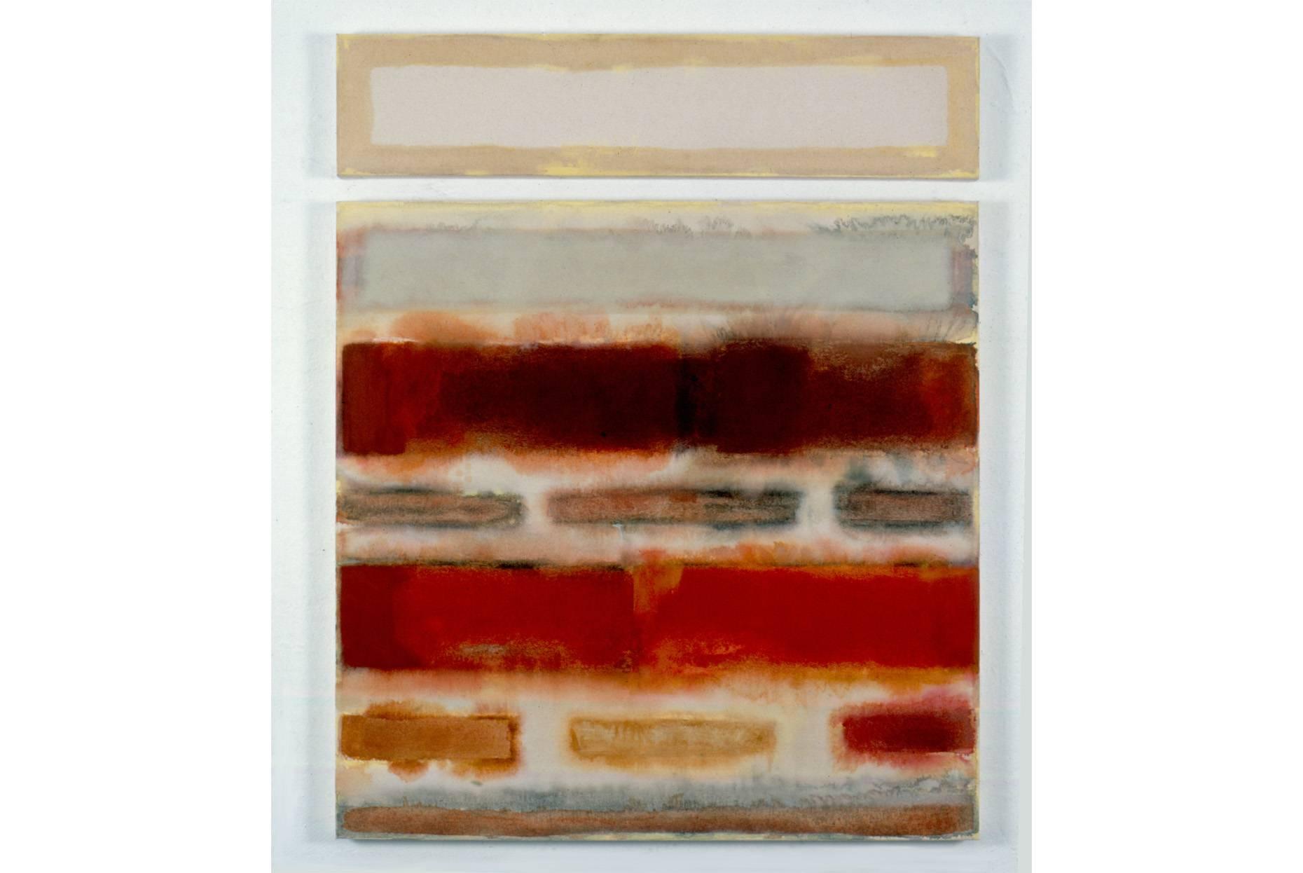 Mauerwerk 2 1994 2 tlg. Pigment und Ölfarbe a/Nessel 120 x 90 cm