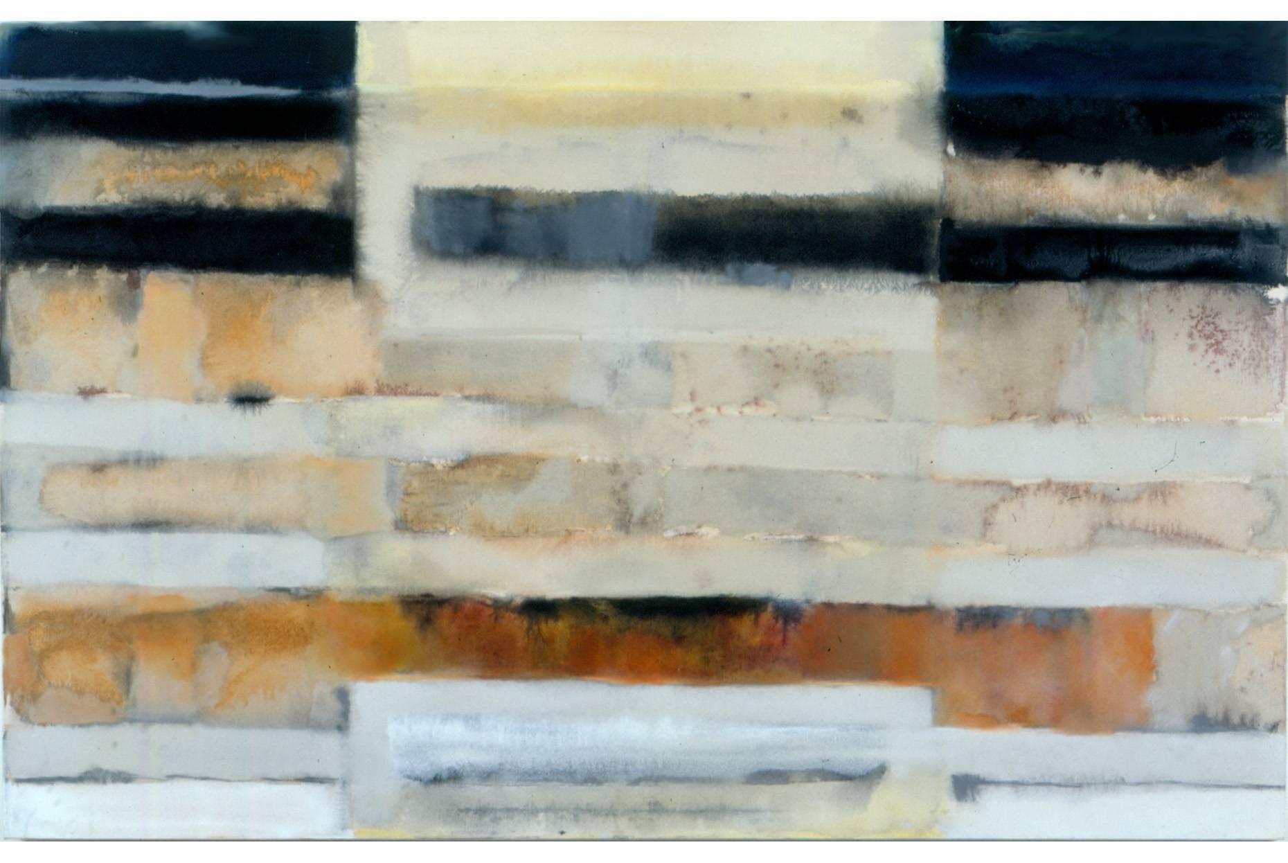 Mauerwerk 1994 Pigment und Ölfarbe a/Nessel 120 x 190 cm