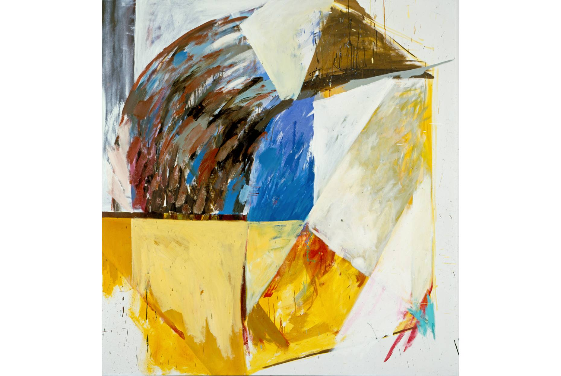 o.T. 1986 Pigment und Ölfarbe a/ Nessel 210 x 200 cm